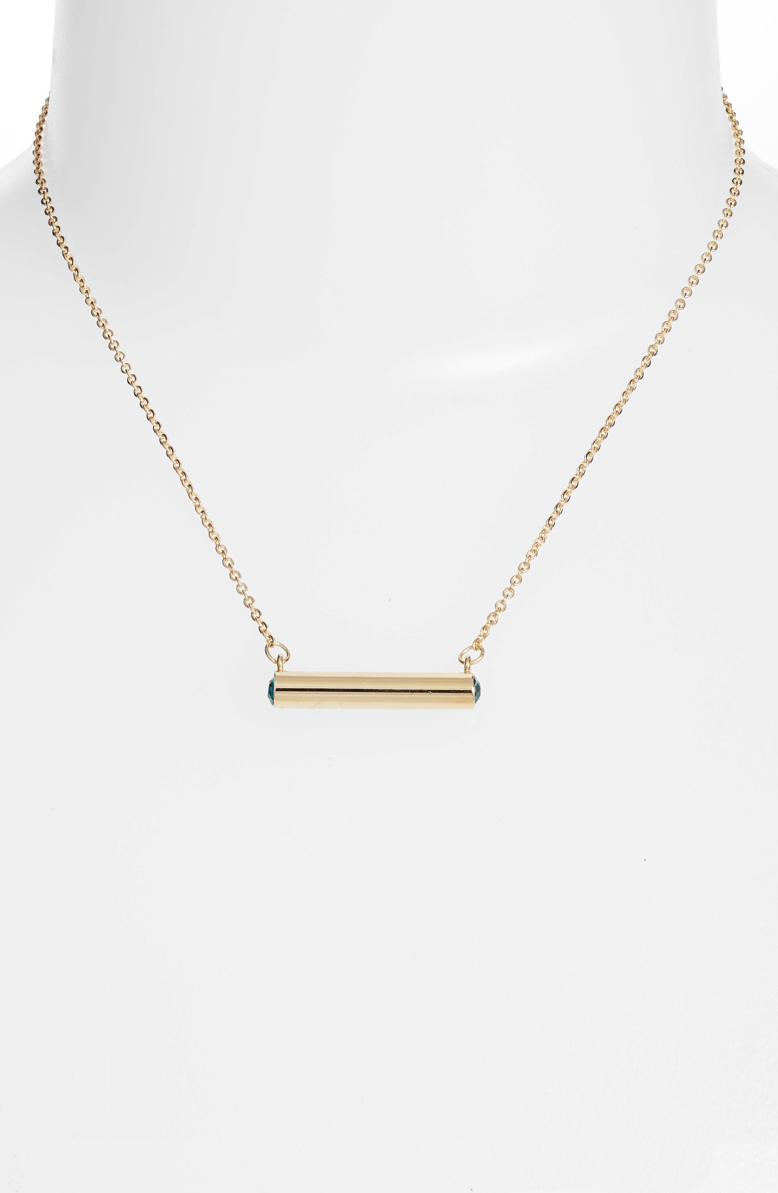 December Crystal Bar Pendant Necklace,                             Alternate thumbnail 4, color,