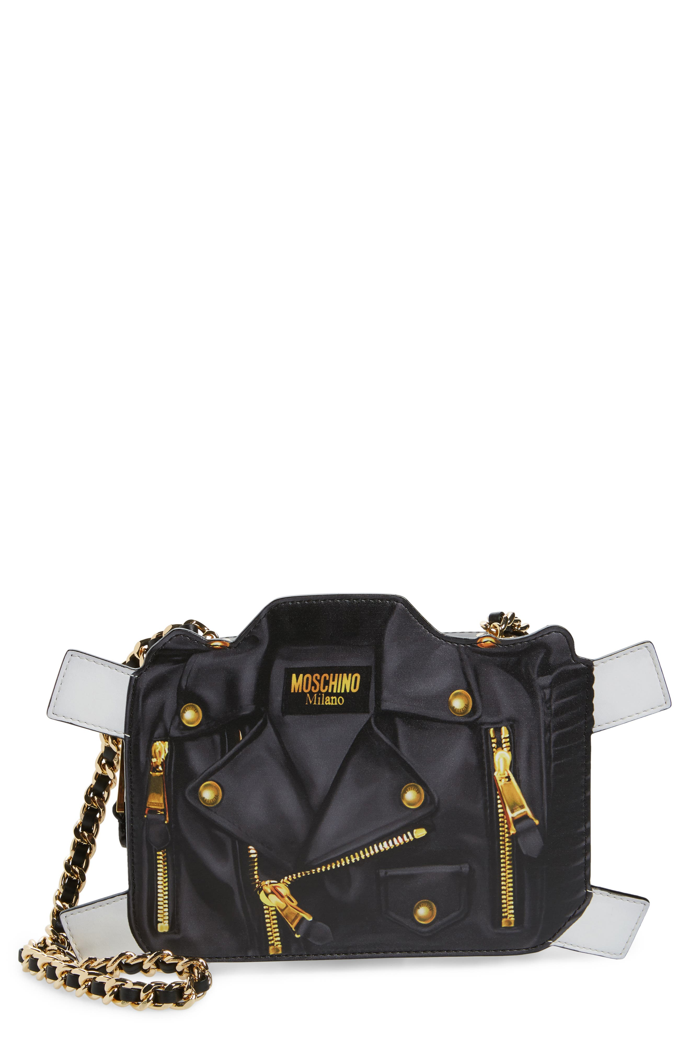 Paper Doll Biker Leather Shoulder Bag,                         Main,                         color, 115