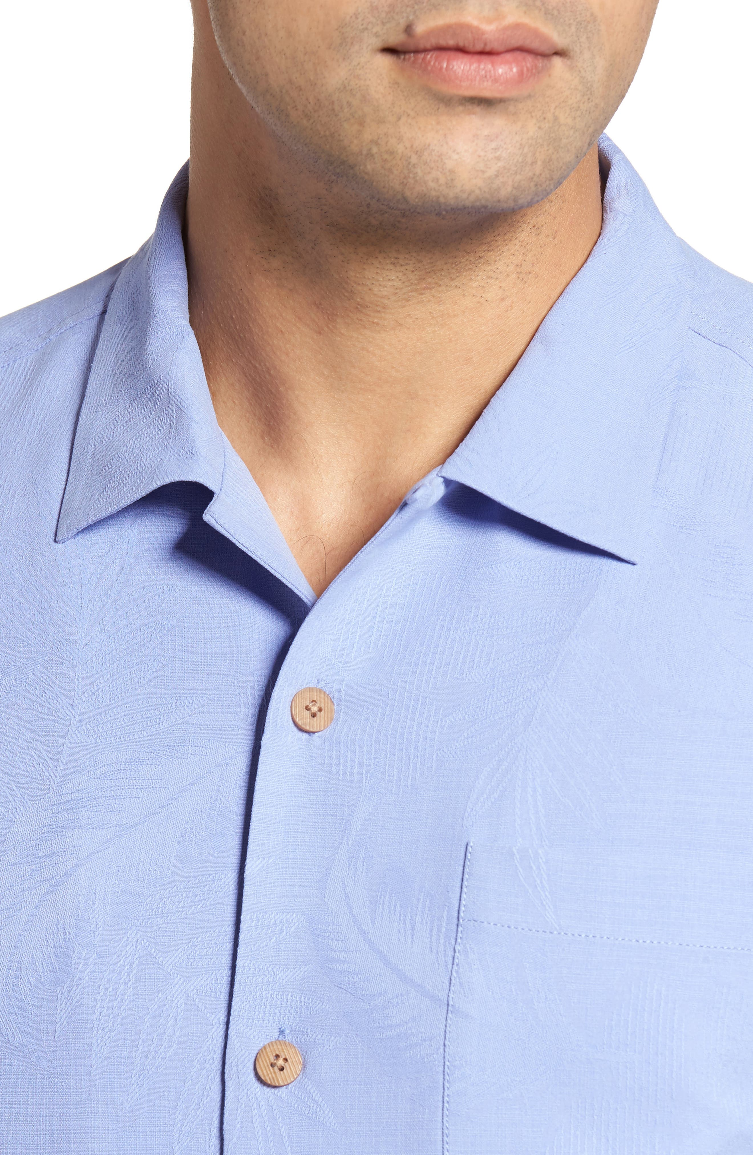 Rio Fronds Short Sleeve Silk Sport Shirt,                             Alternate thumbnail 75, color,