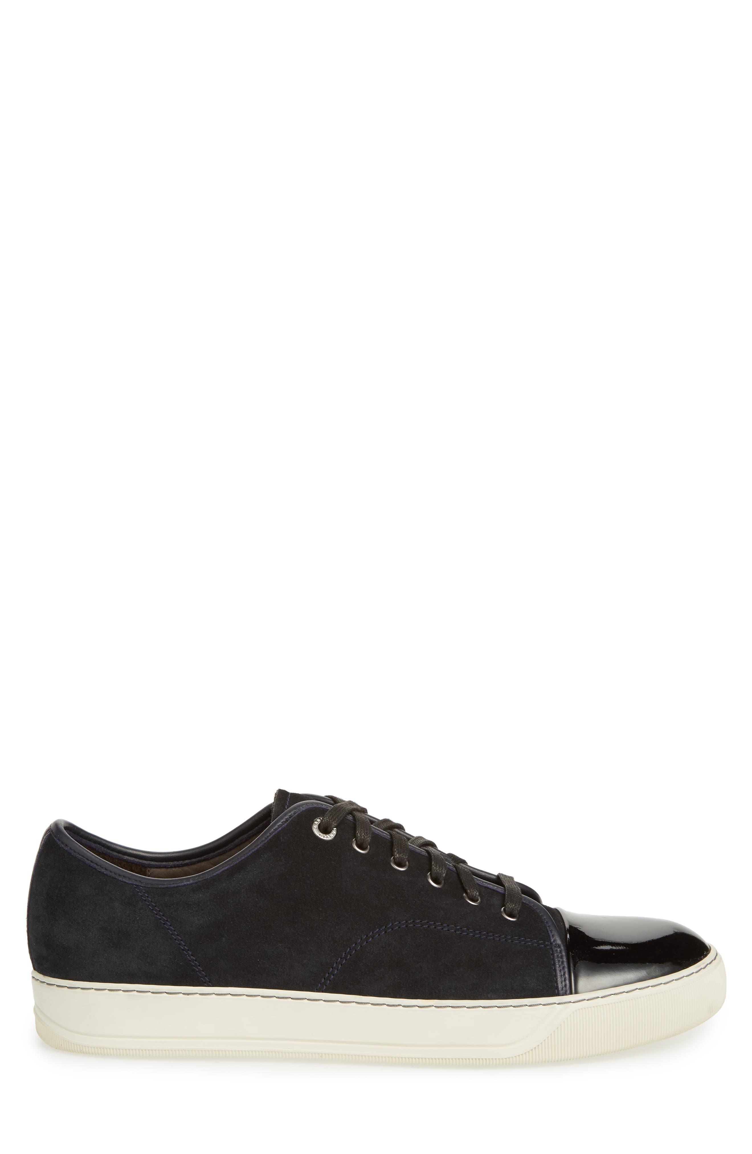 Low Top Suede Sneaker,                             Alternate thumbnail 3, color,                             024