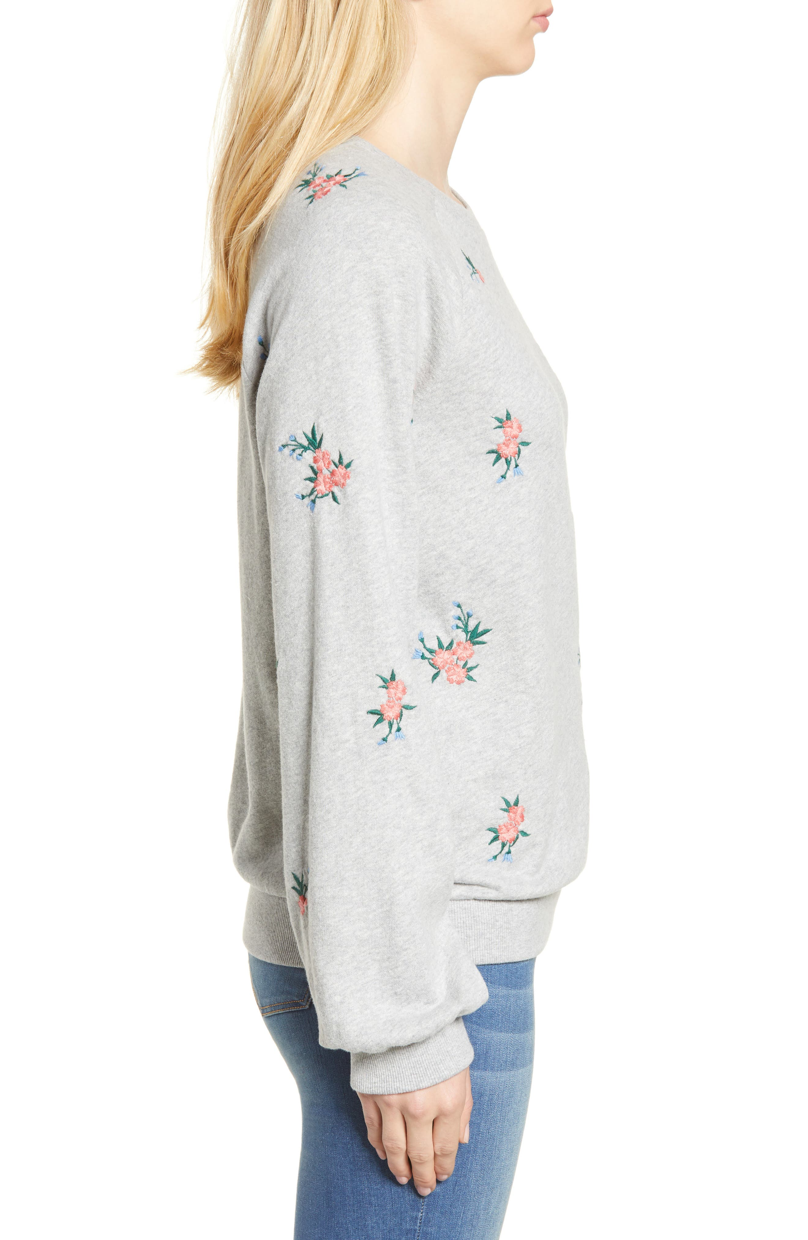 Embroidered Sweatshirt,                             Alternate thumbnail 3, color,                             030