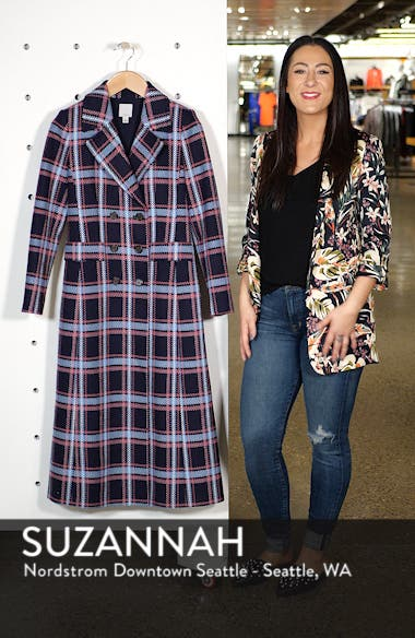 x Atlantic-Pacific Long Plaid Coat, sales video thumbnail