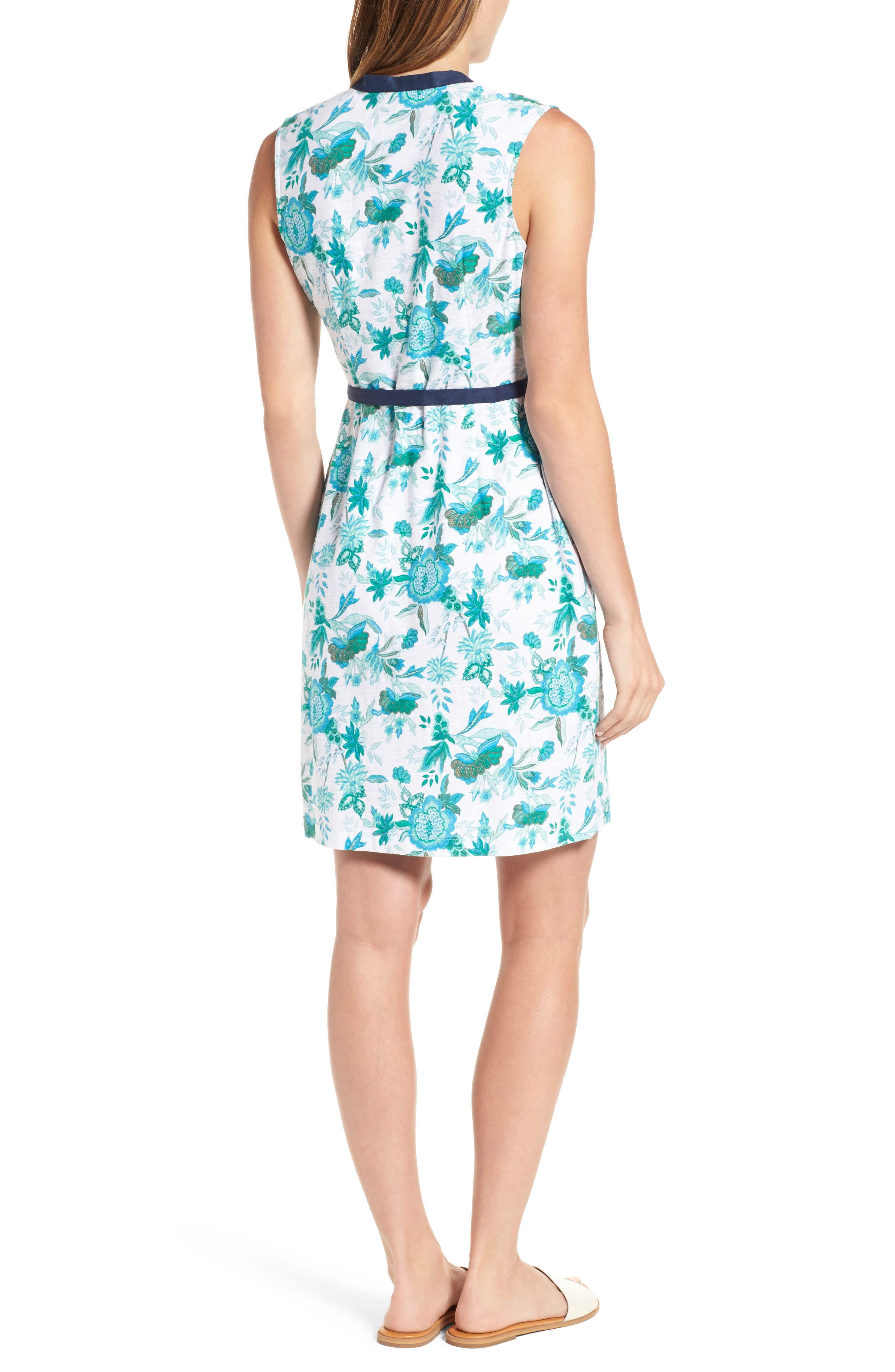 Naxos Blooms Short Jersey Dress,                             Alternate thumbnail 2, color,                             300