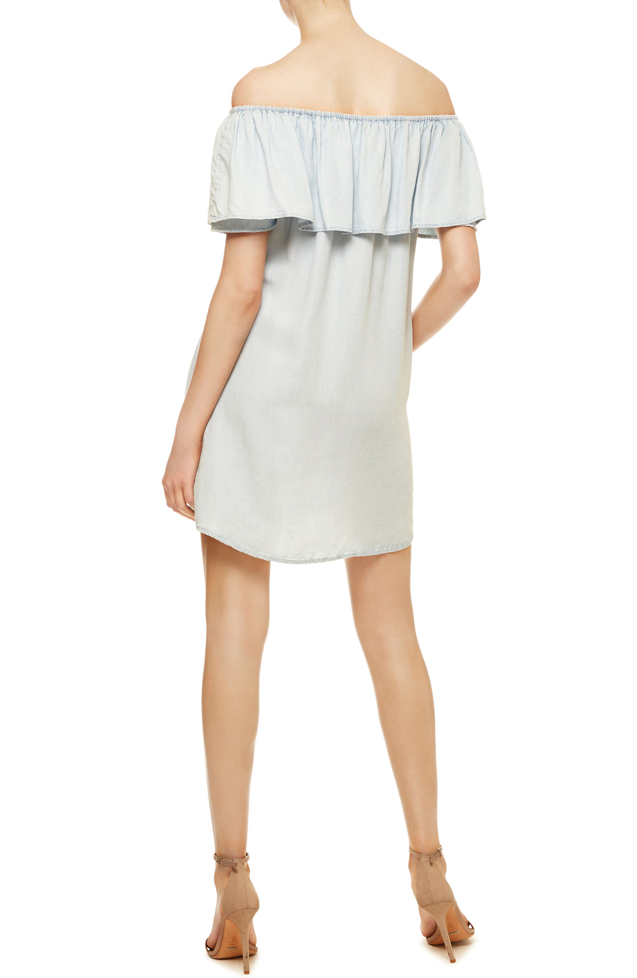 Stella Chambray Off the Shoulder Dress,                             Alternate thumbnail 2, color,                             400