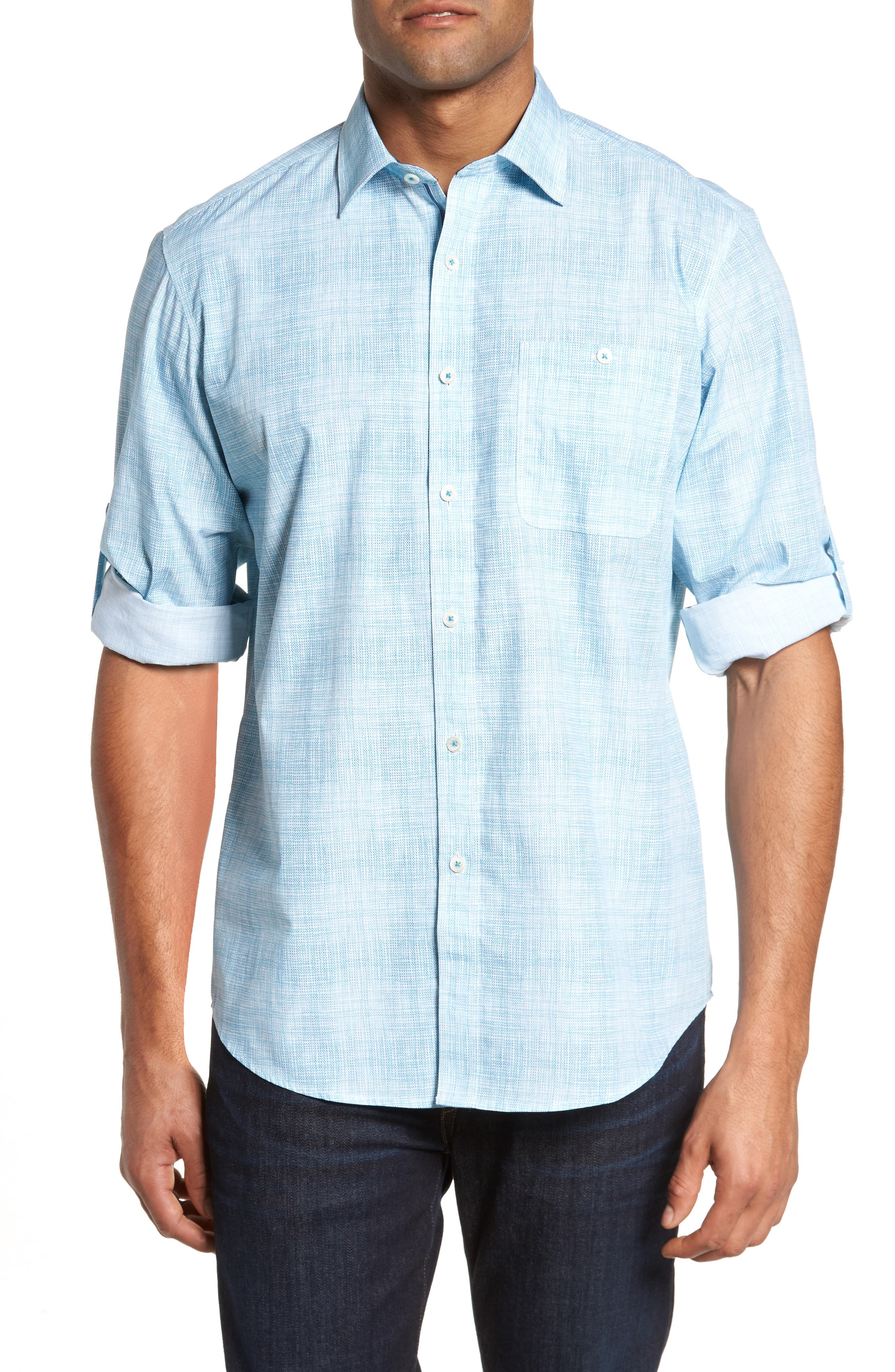 Classic Fit Print Sport Shirt,                         Main,                         color, 316