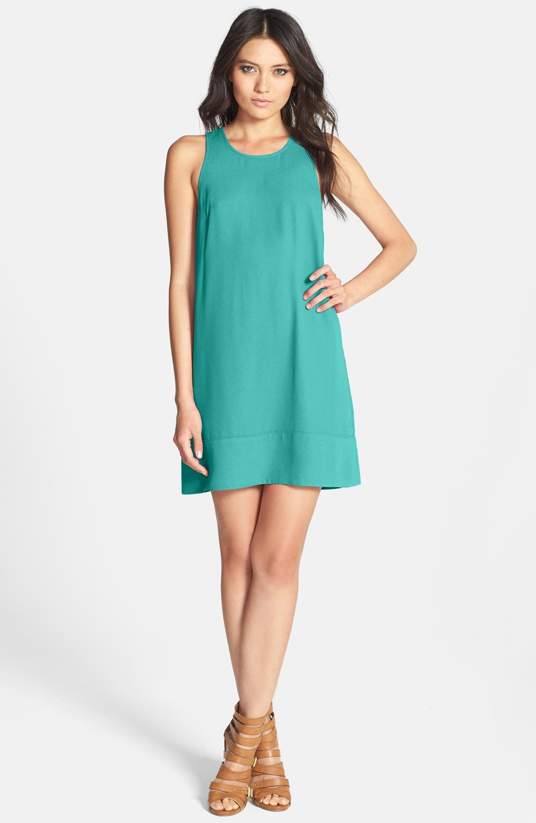 Racerback Shift Dress,                             Main thumbnail 8, color,