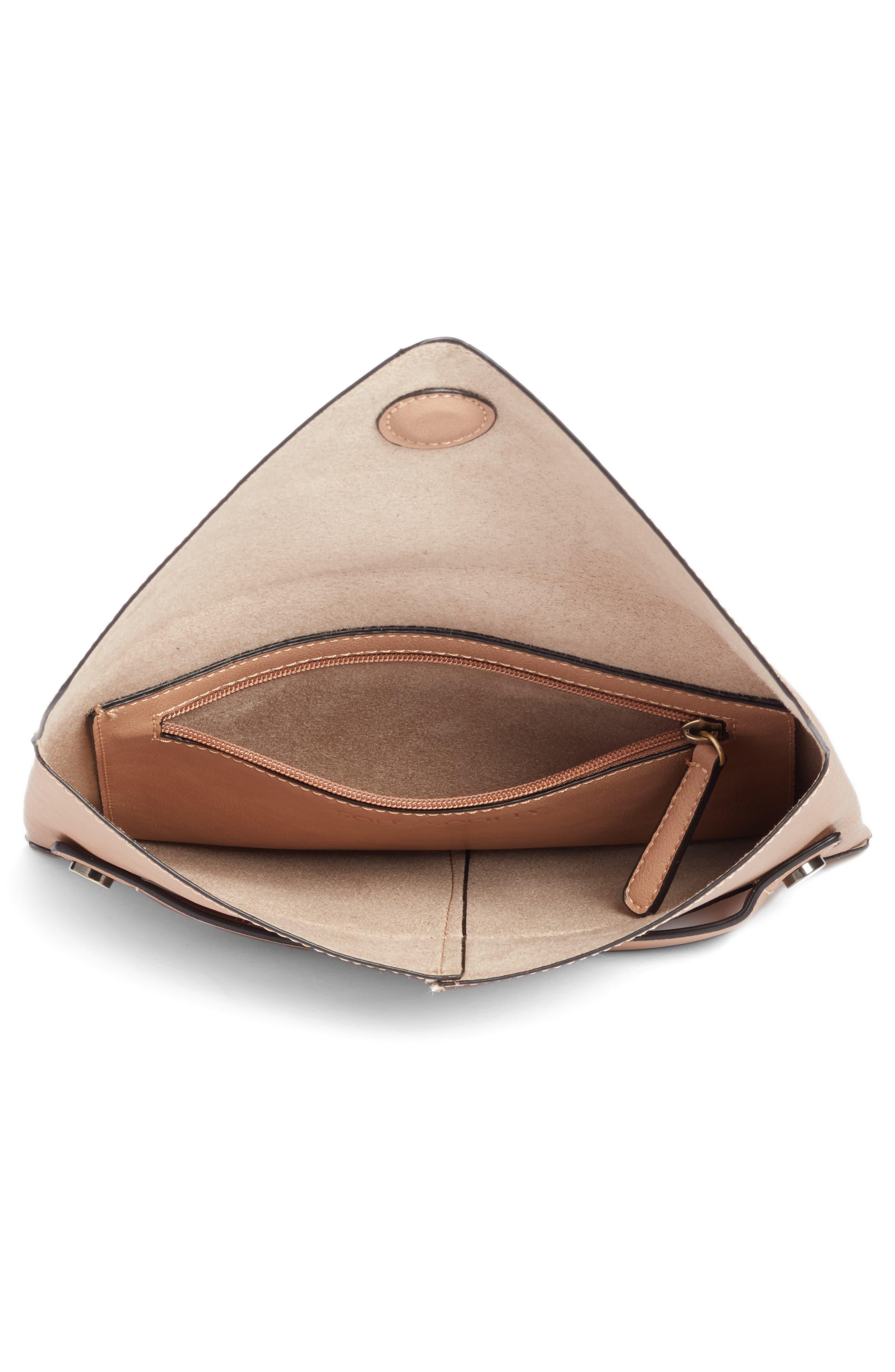 Karen Faux Leather Envelope Clutch,                             Alternate thumbnail 11, color,
