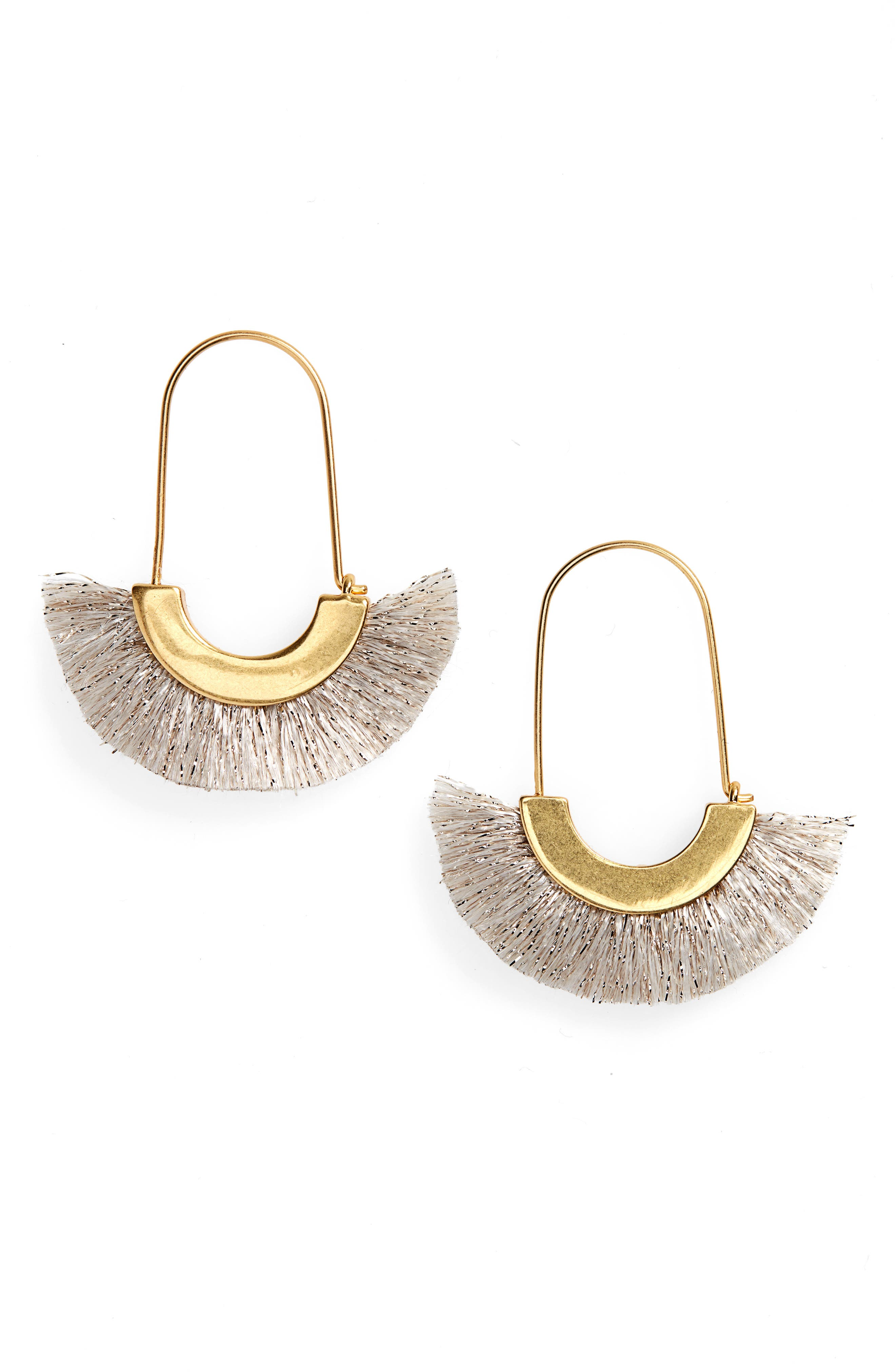 Arc Wire Fringe Earrings,                         Main,                         color, 100