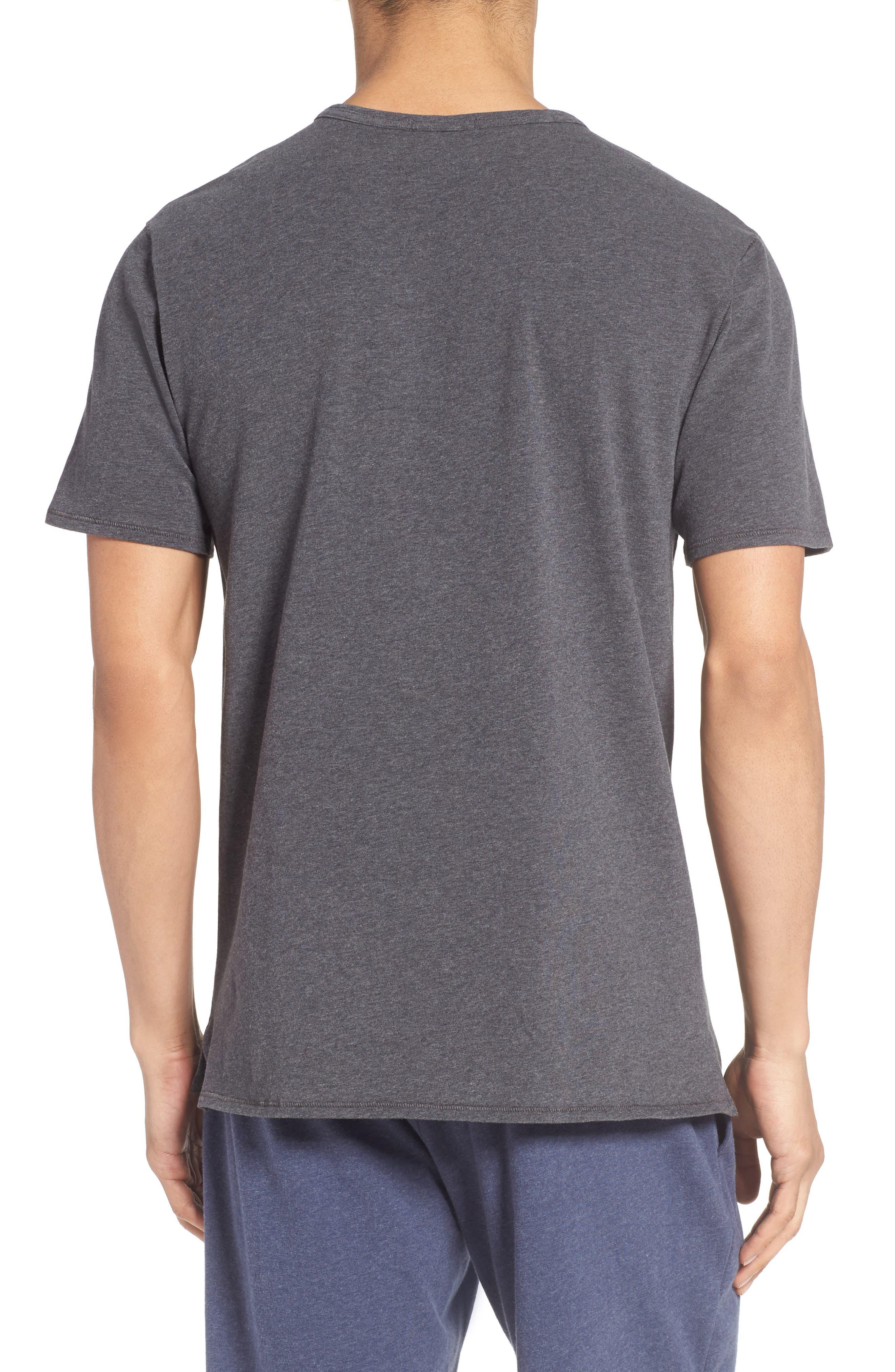 Stretch Cotton V-Neck T-Shirt,                             Alternate thumbnail 2, color,                             020