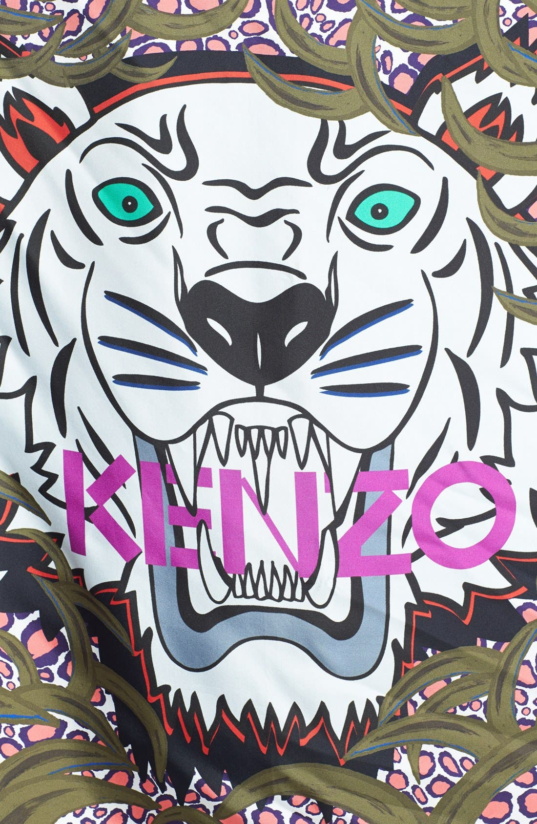 KENZO,                             'New Tiger Head' Scarf,                             Alternate thumbnail 2, color,                             300