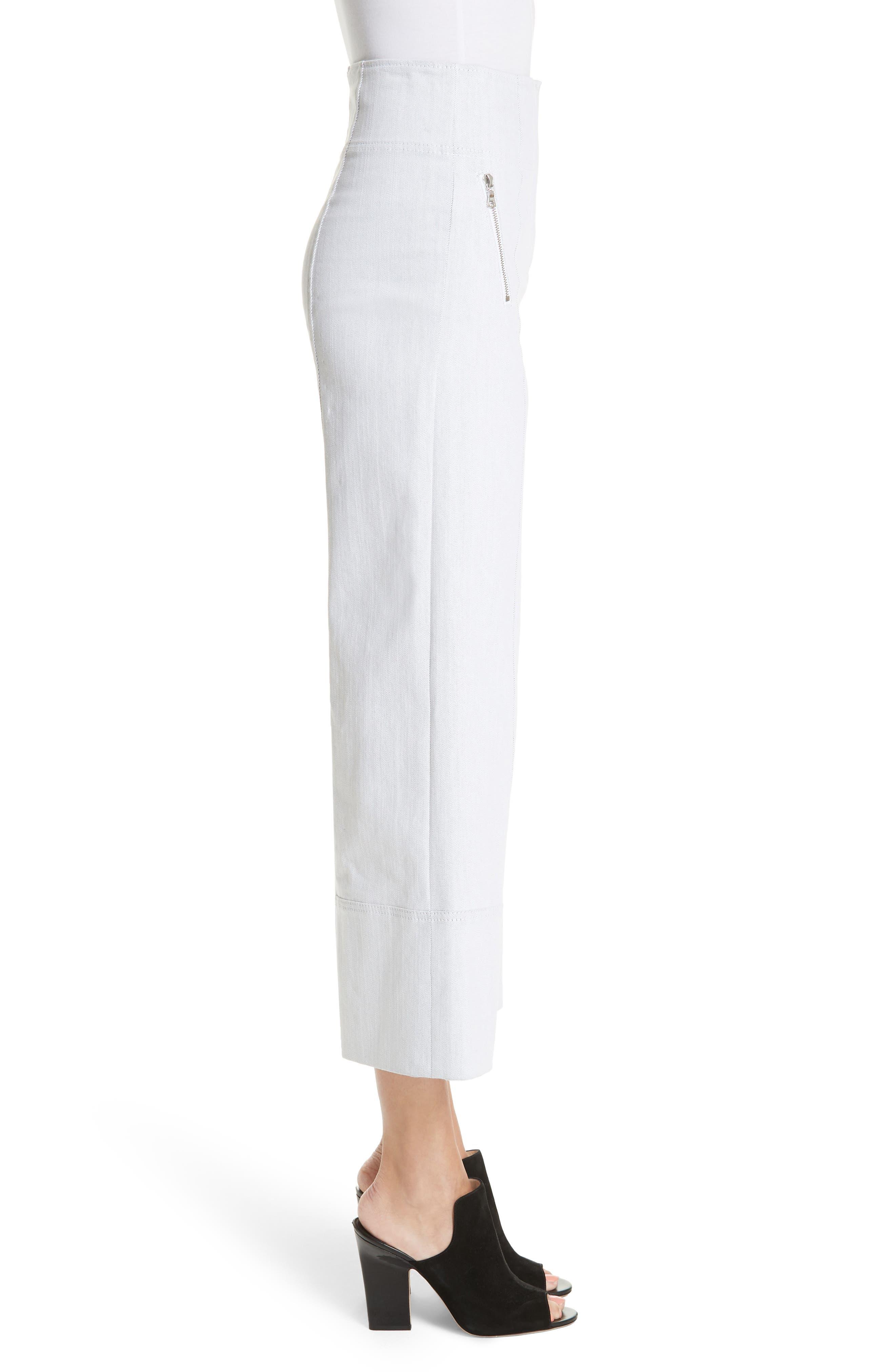 Marla Wide Leg Pants,                             Alternate thumbnail 3, color,                             100