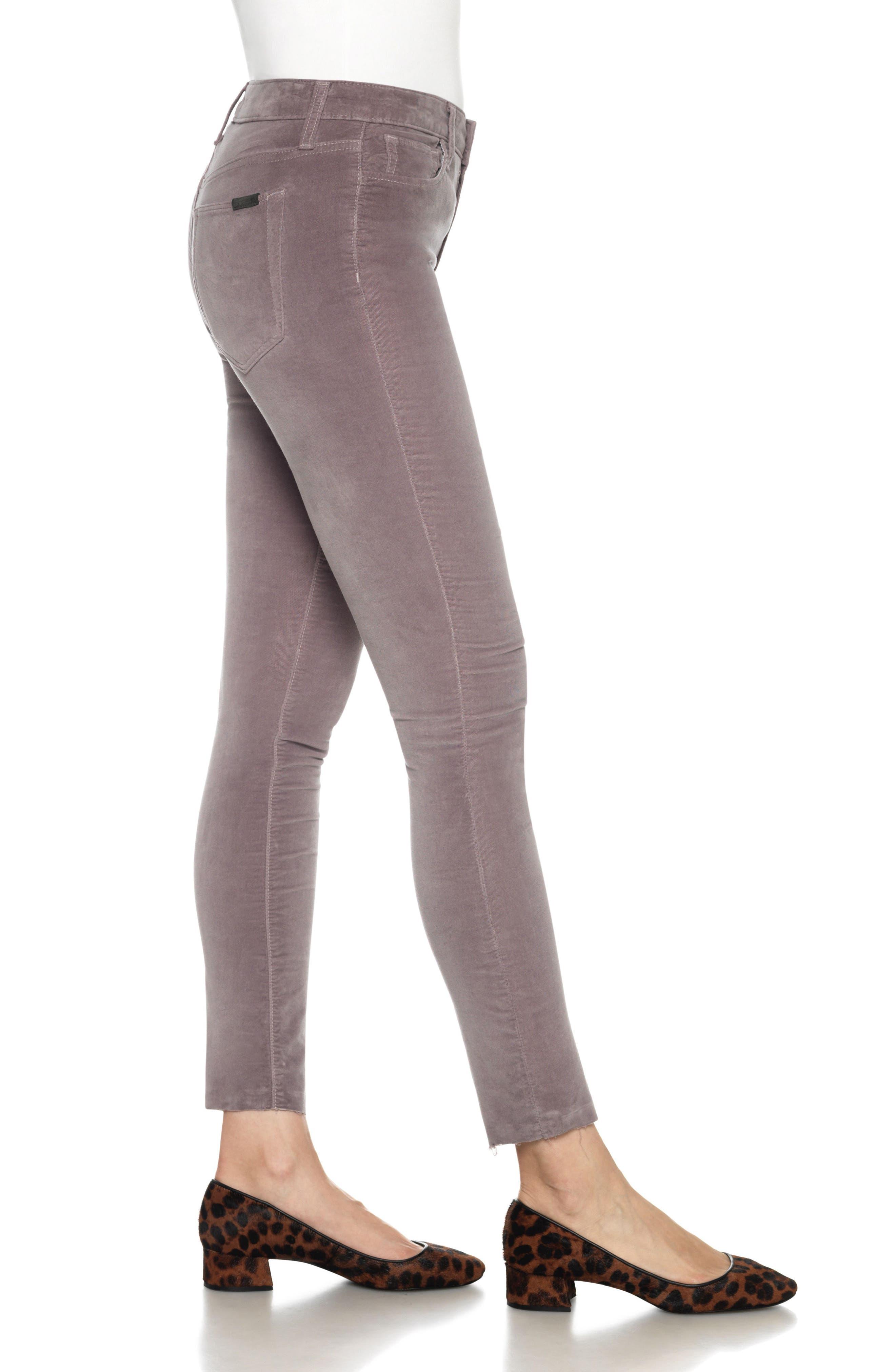 Icon Velvet Ankle Skinny Pants,                             Alternate thumbnail 14, color,