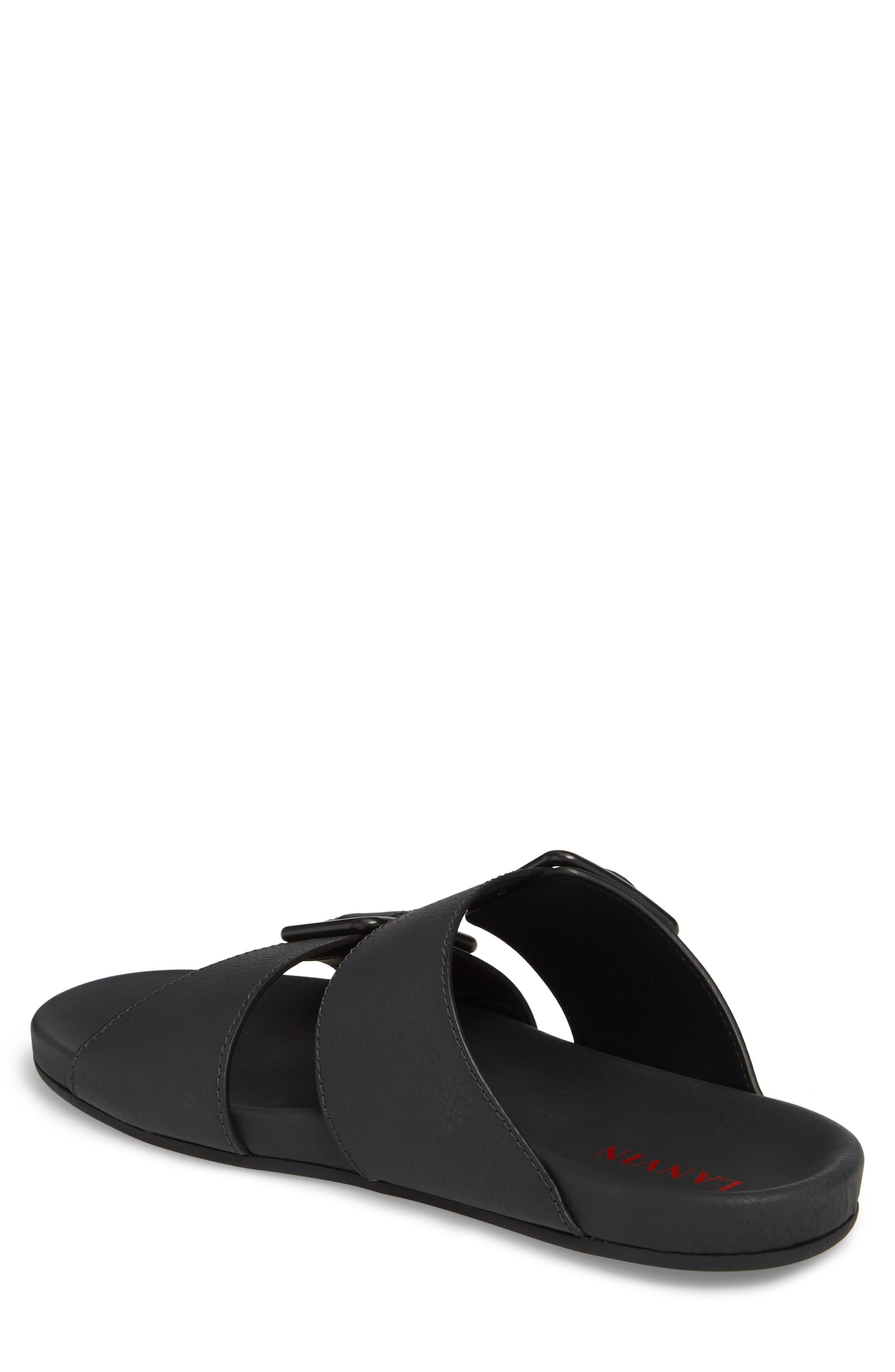 Double Strap Slide Sandal,                             Alternate thumbnail 2, color,                             001