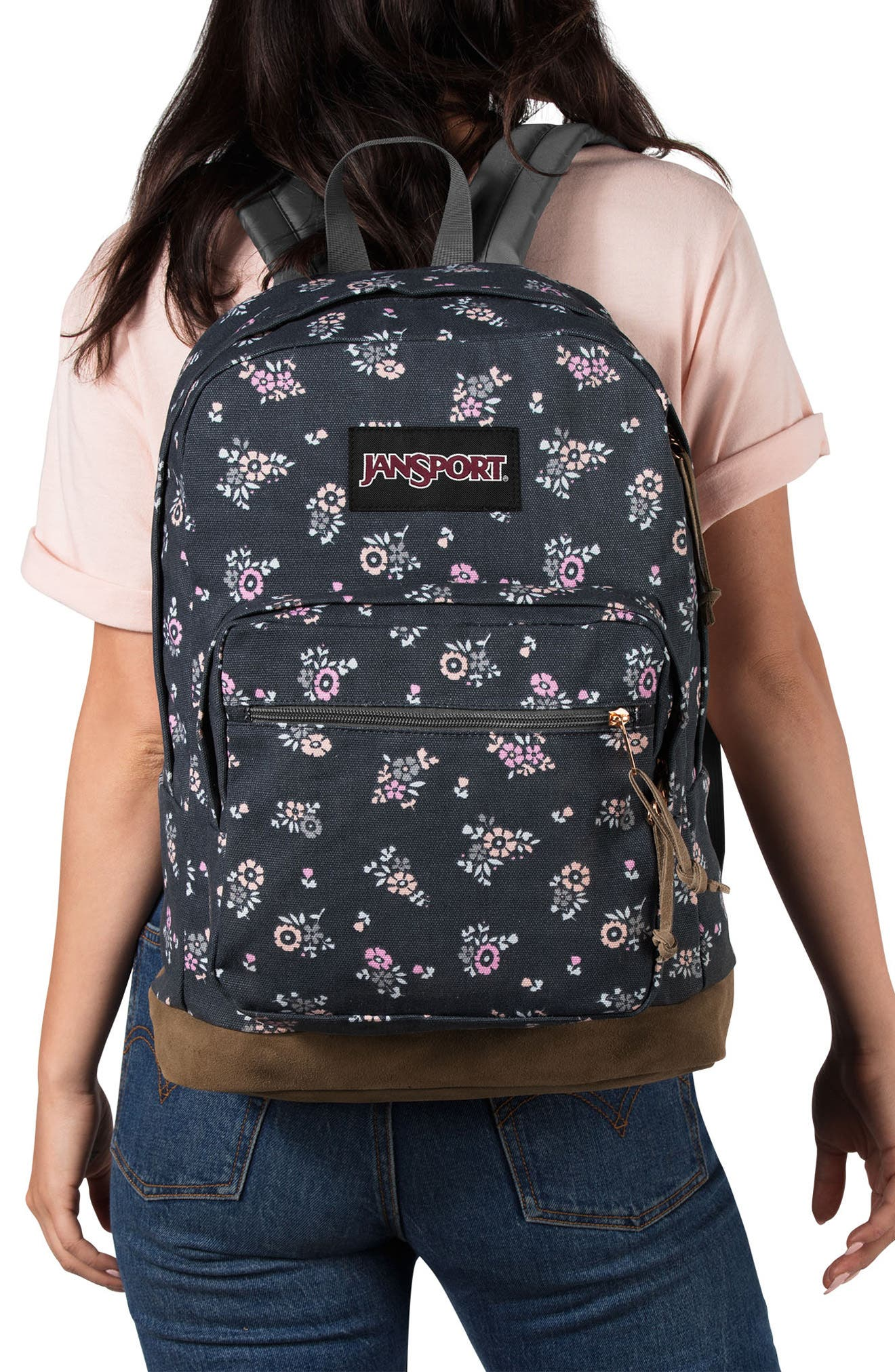 Right Pack Expressions Backpack,                             Alternate thumbnail 2, color,                             TINY BLOOMS