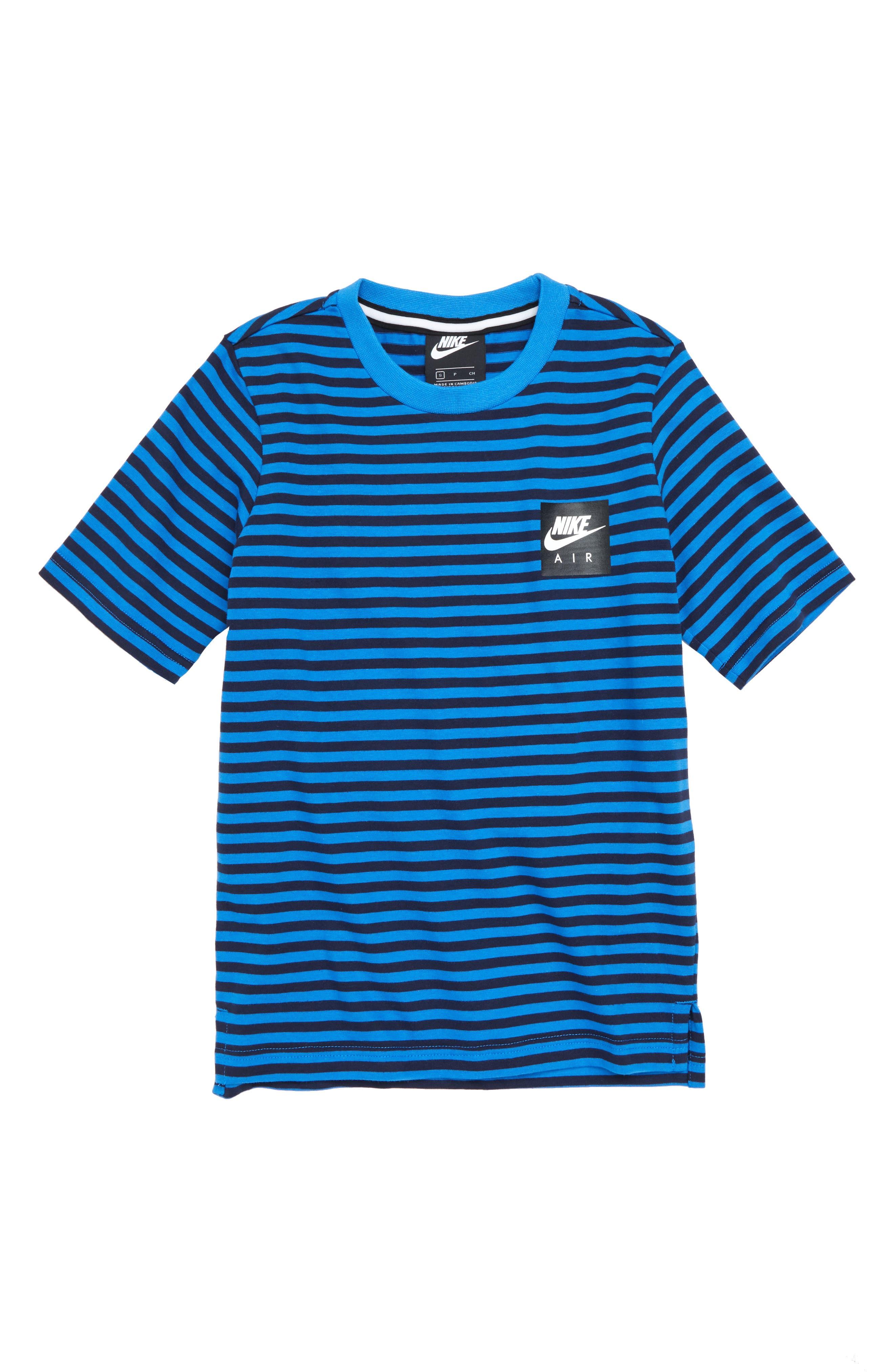 Air T-Shirt,                         Main,                         color, OBSIDIAN/ SIGNAL BLUE
