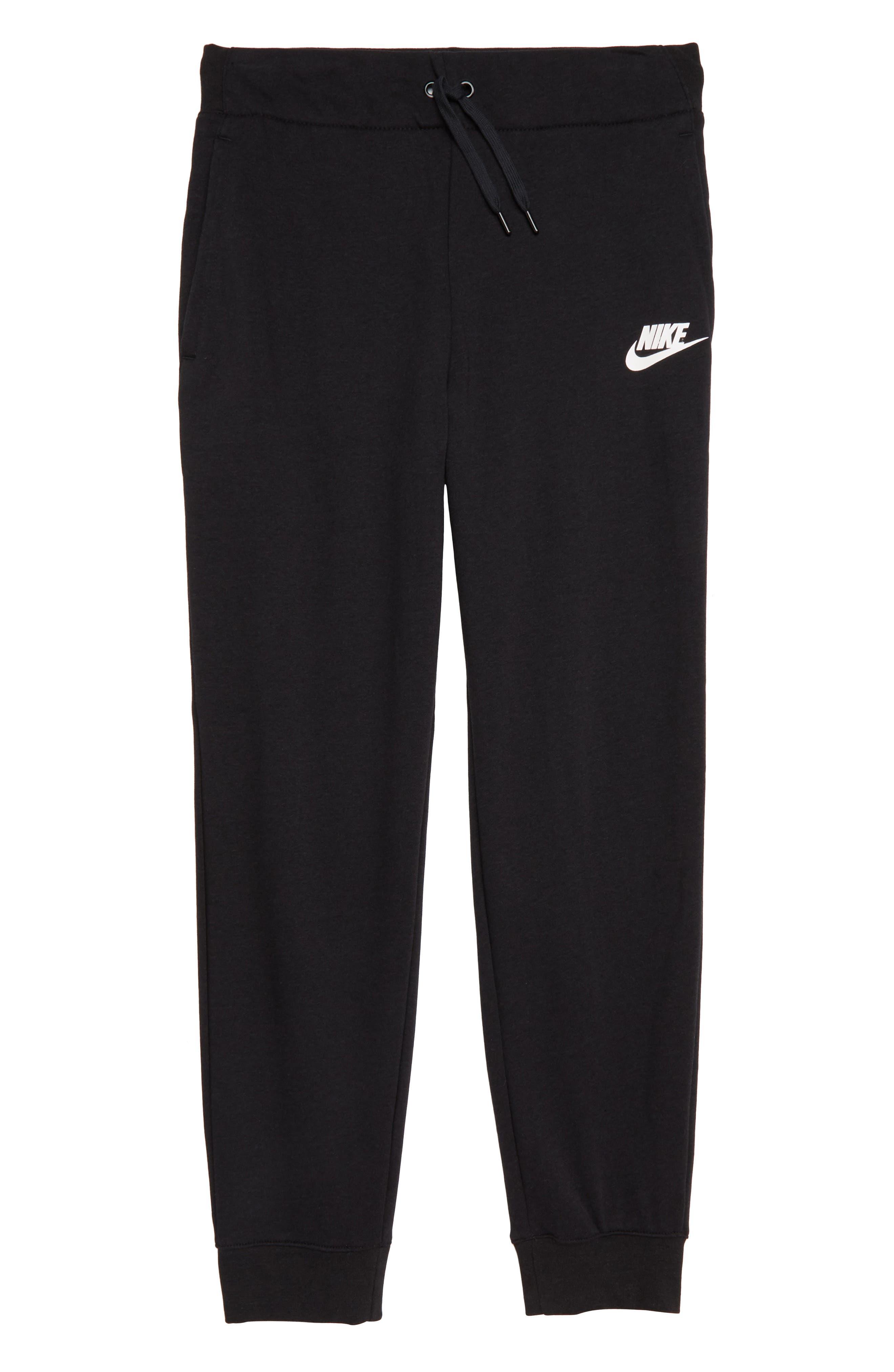 Sportswear PE Pants,                         Main,                         color, BLACK/ WHITE