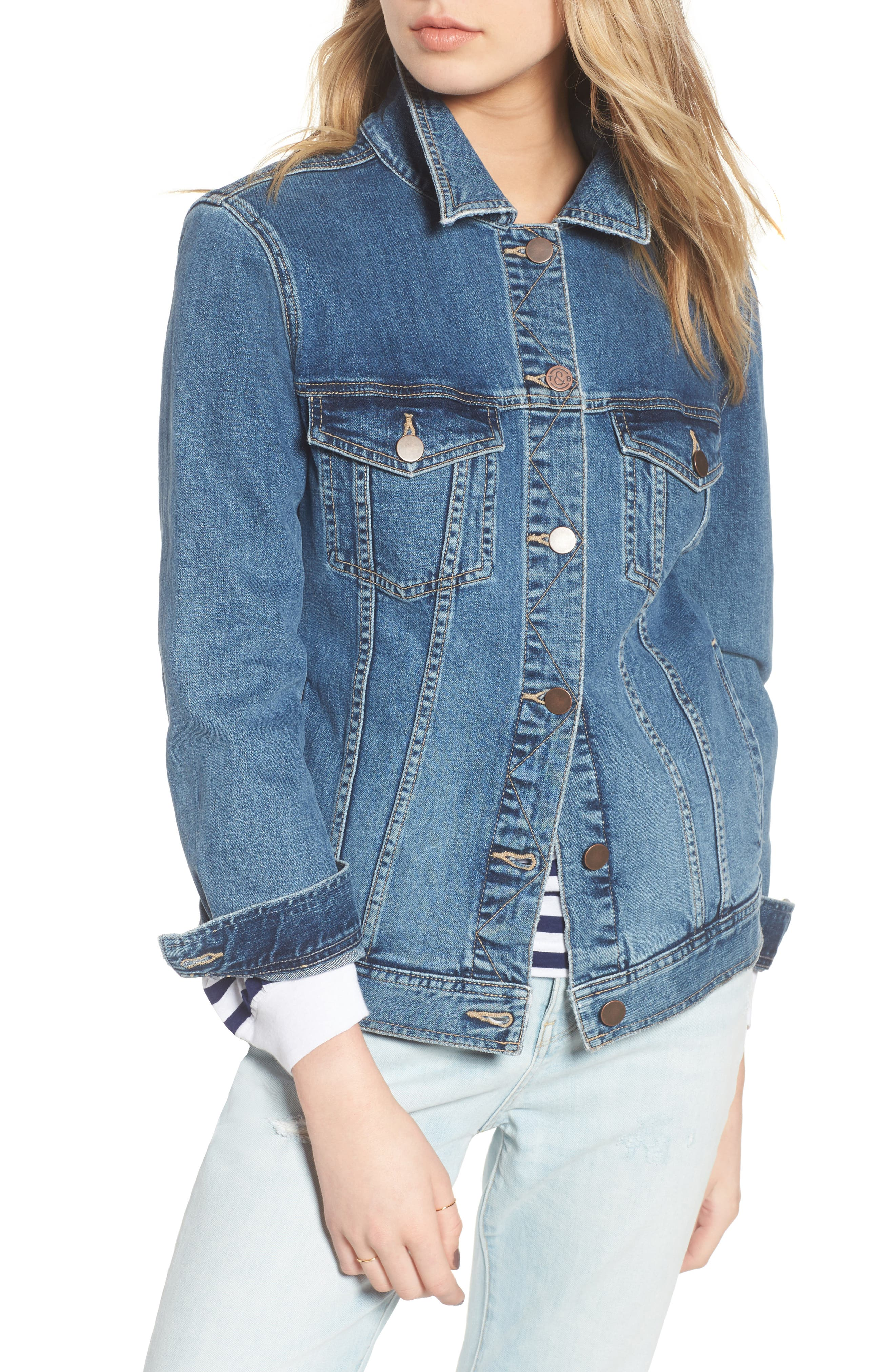 Relaxed Denim Jacket, Main, color, 400