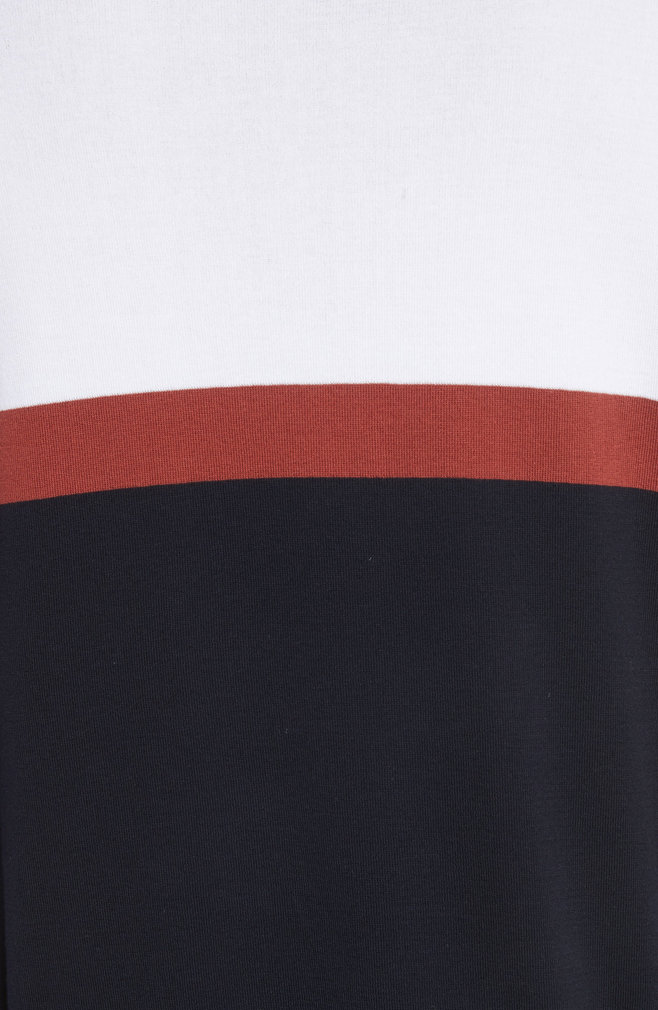 Colorblock Crewneck Sweater,                             Alternate thumbnail 5, color,                             100