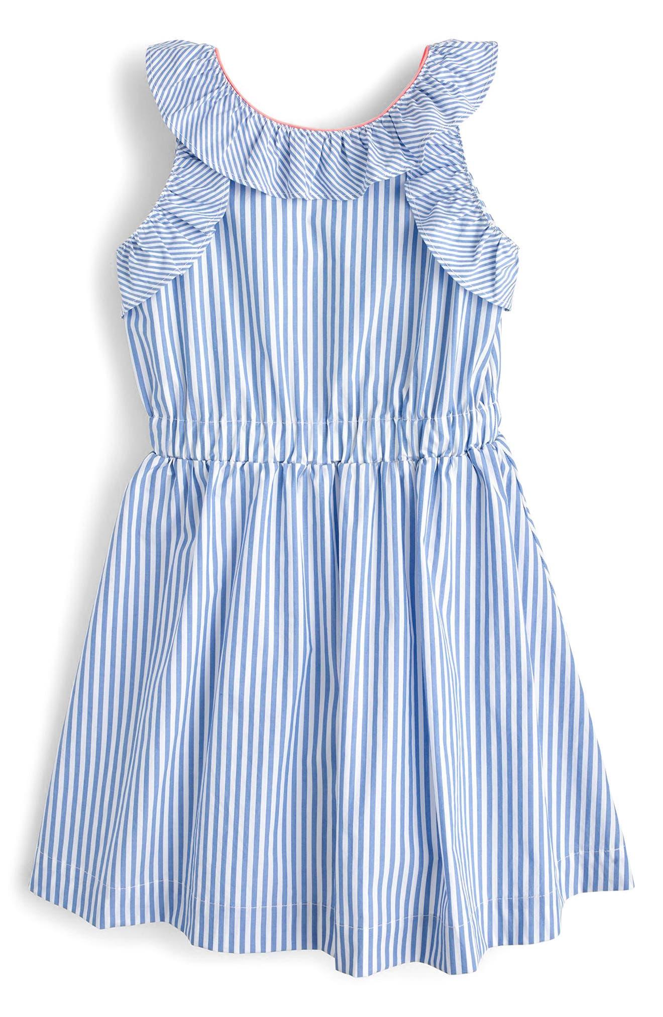 Katia Stripe Ruffle Dress,                         Main,                         color, 400
