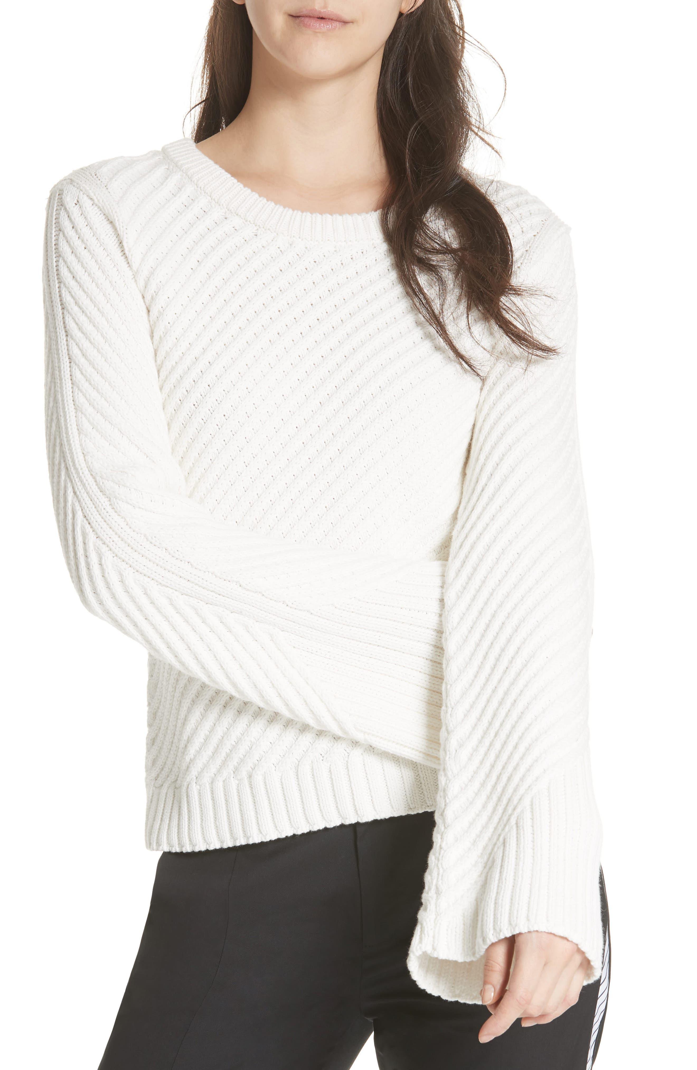 Lauraly Cutout Back Sweater,                             Main thumbnail 1, color,                             PORCELAIN