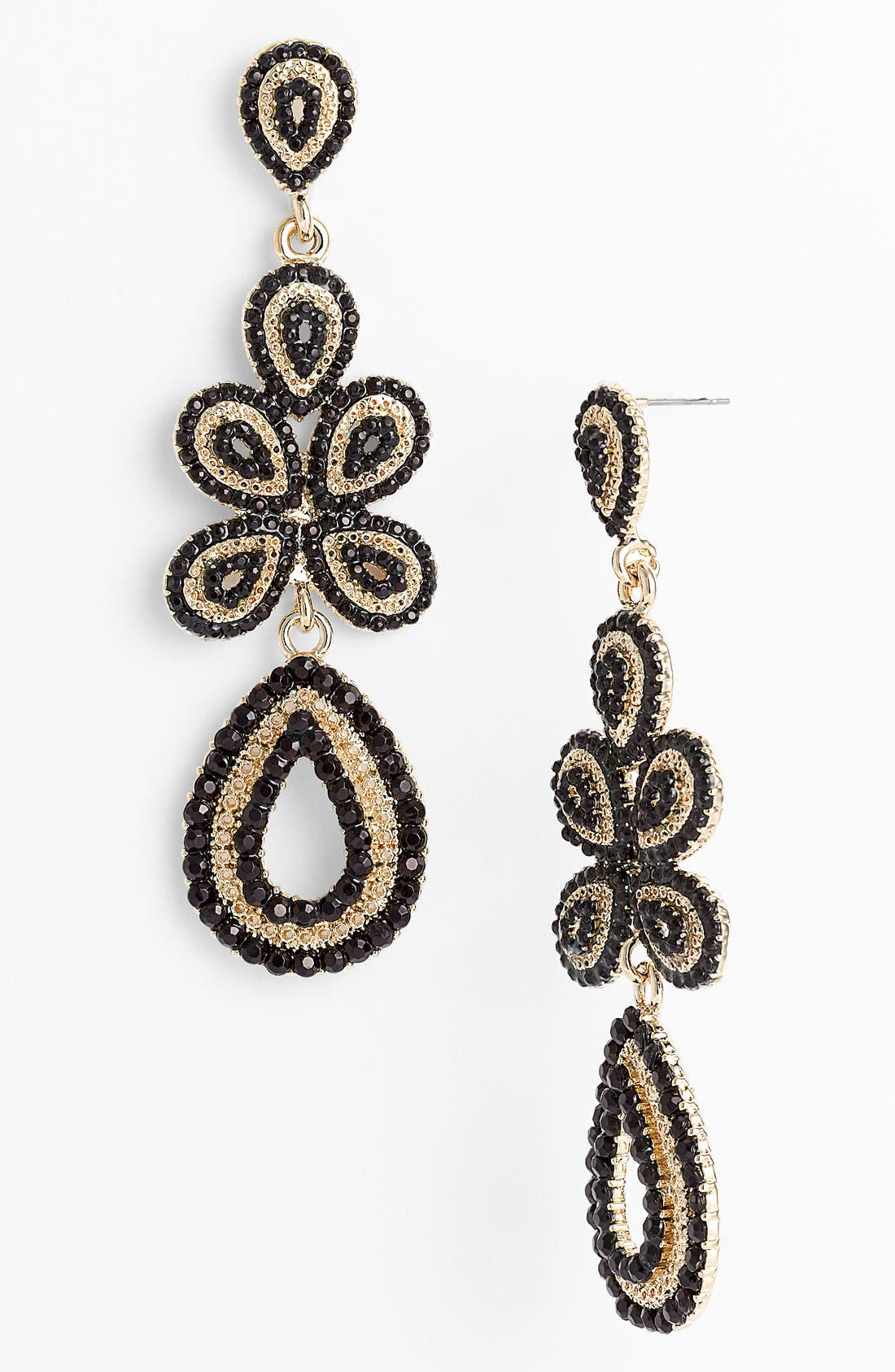 'Ornate' Linear Statement Earrings,                             Main thumbnail 3, color,