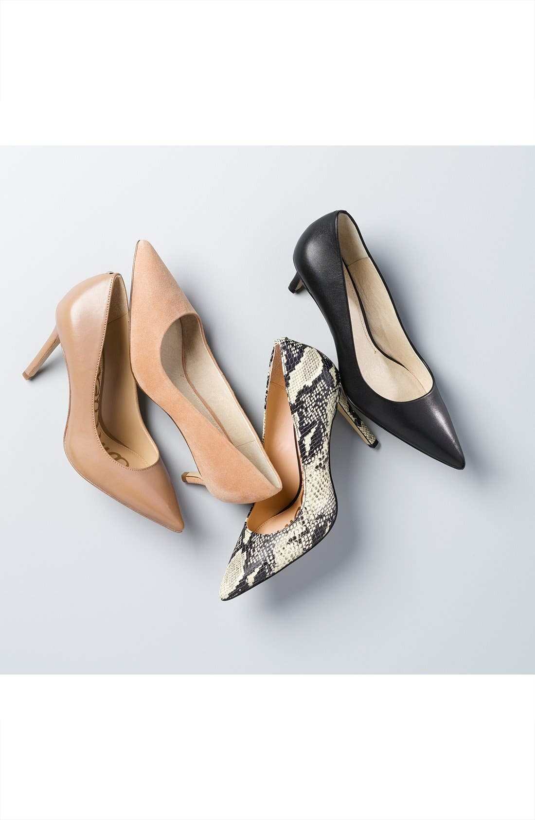 Hazel Pointy Toe Pump,                             Alternate thumbnail 8, color,                             METALLIC RUST LEATHER