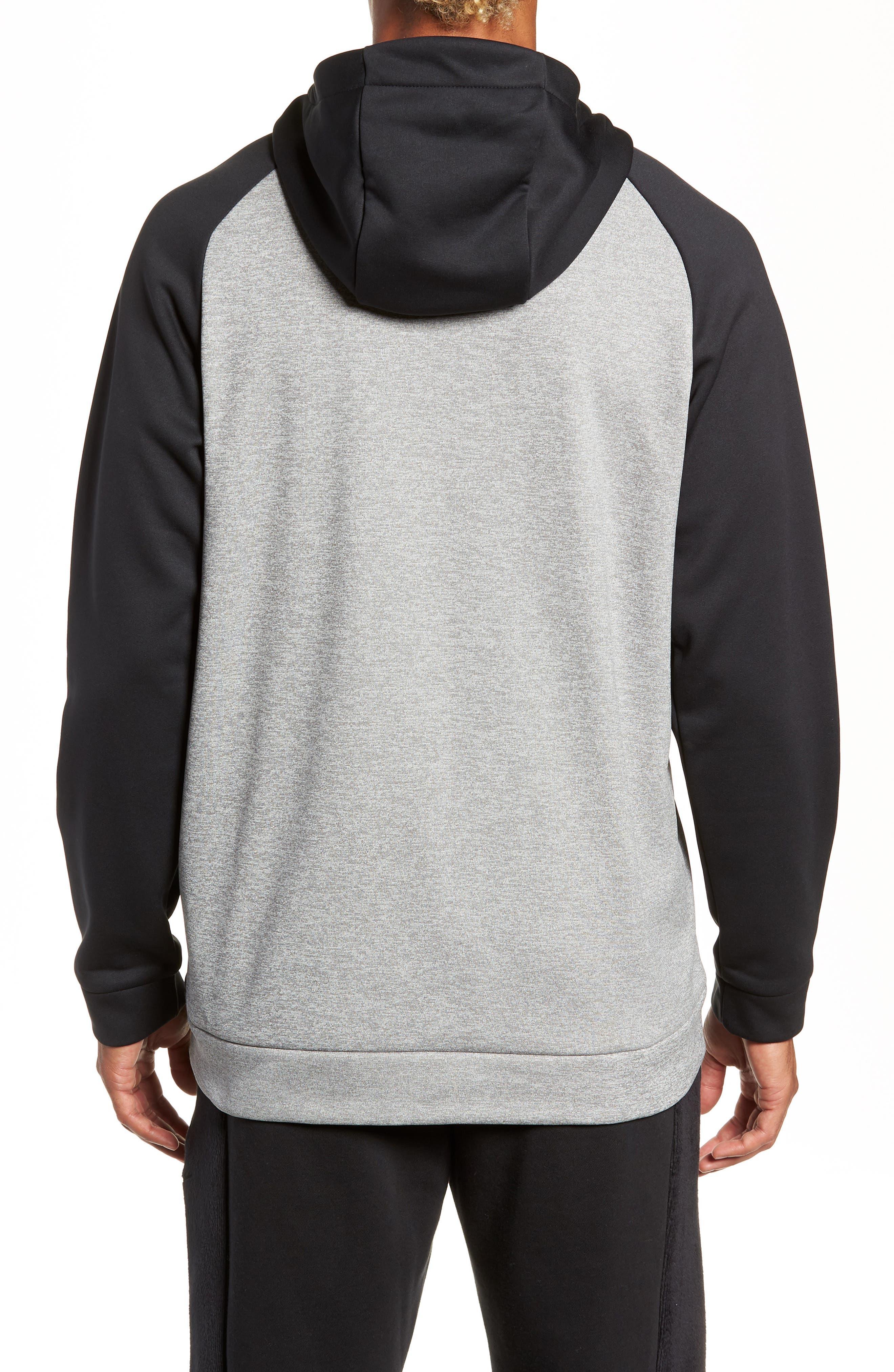 Therma Swoosh Dry Pullover Hoodie,                             Alternate thumbnail 2, color,                             DK GREY HEATHER/ BLACK/ BLACK