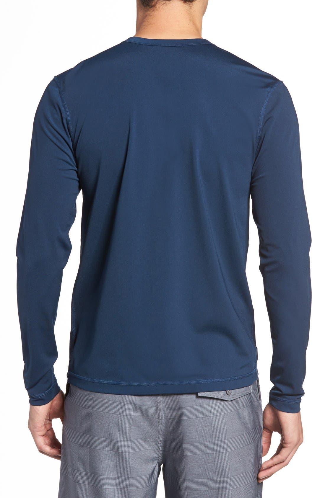 Long Sleeve Stretch Rashguard,                             Alternate thumbnail 6, color,                             DEEP BLUE