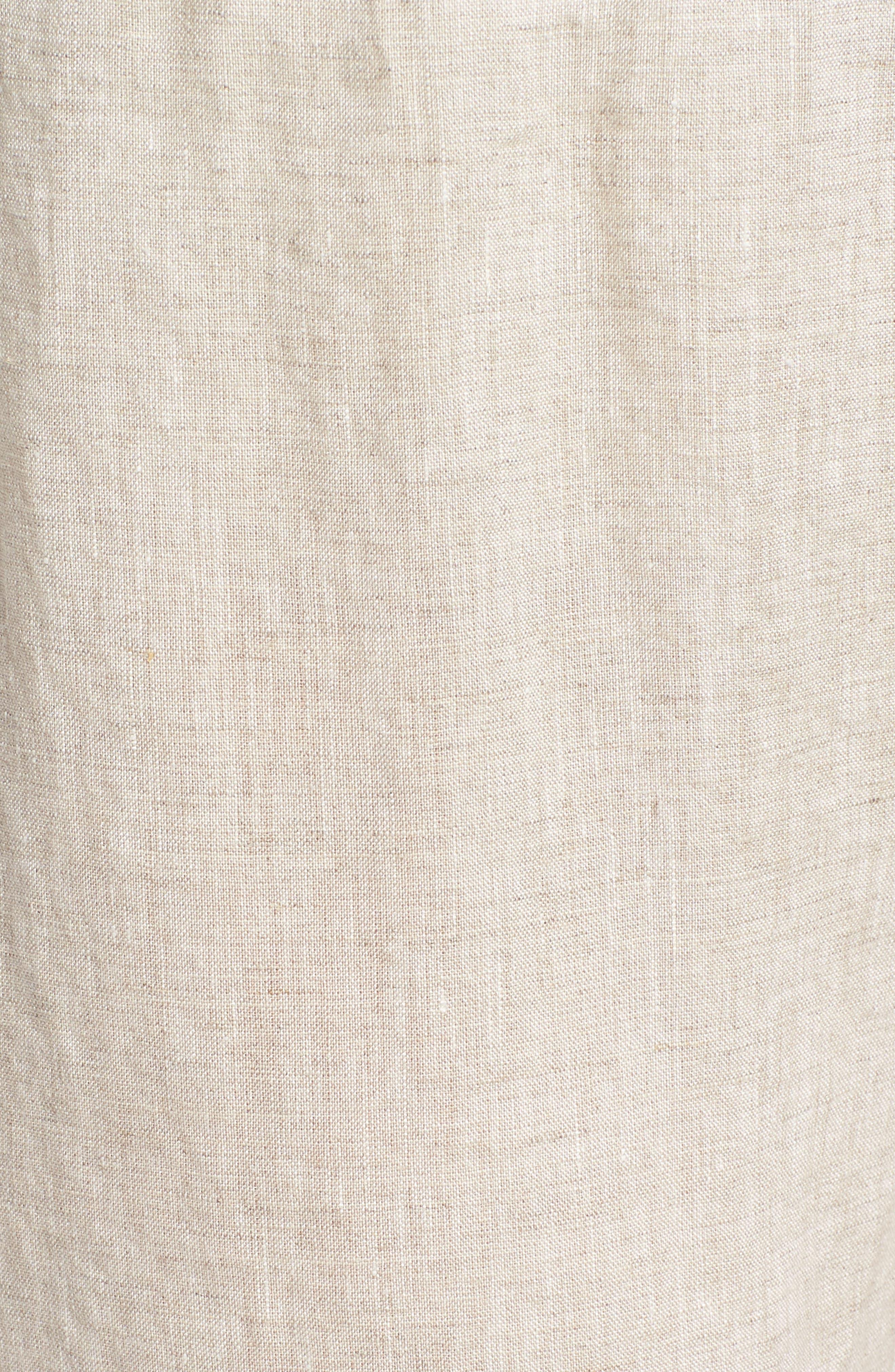 Crop Straight Leg Linen Pants,                             Alternate thumbnail 10, color,