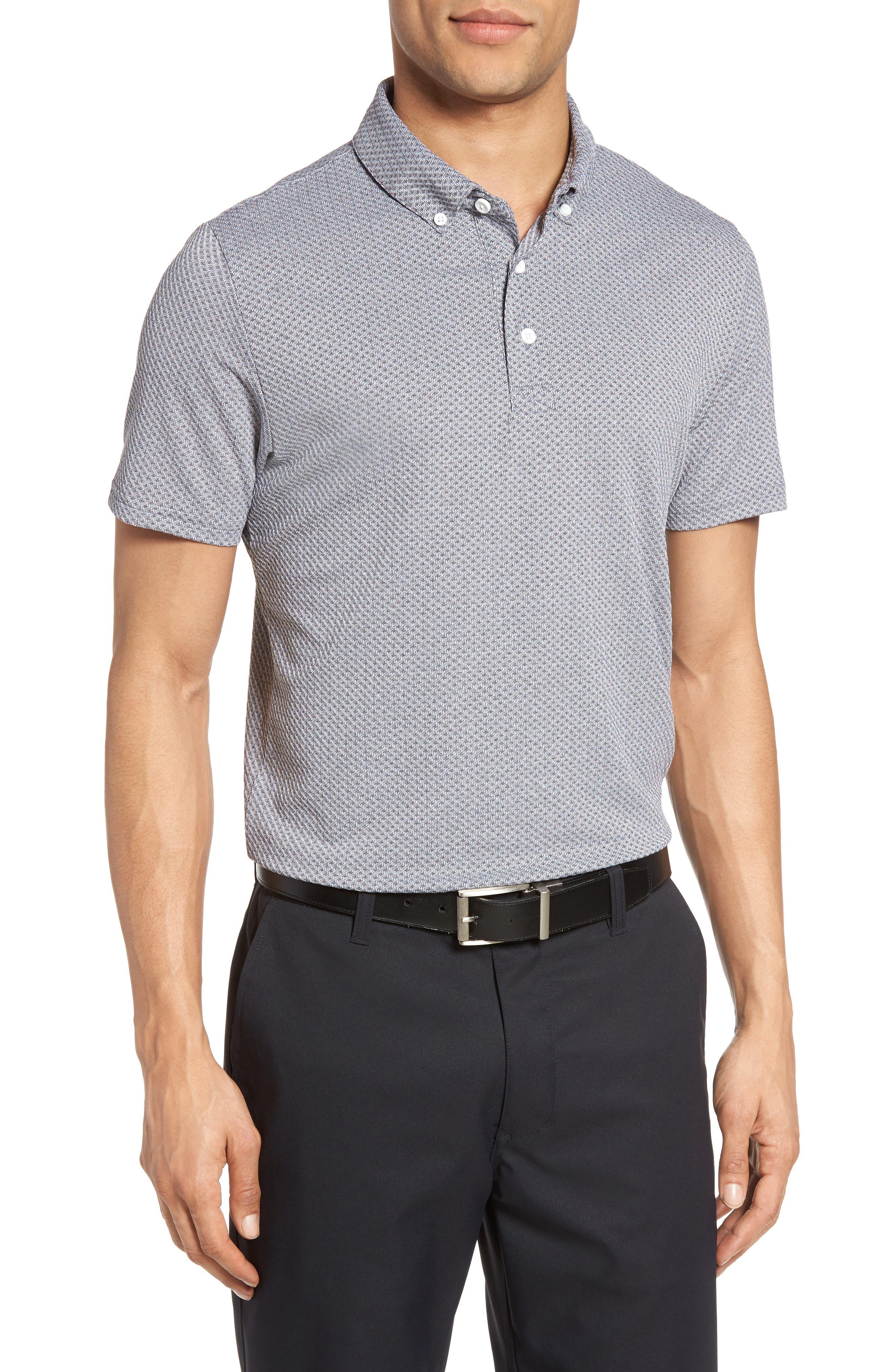 Flatiron Slim Fit Jacquard Jersey Polo,                         Main,                         color,