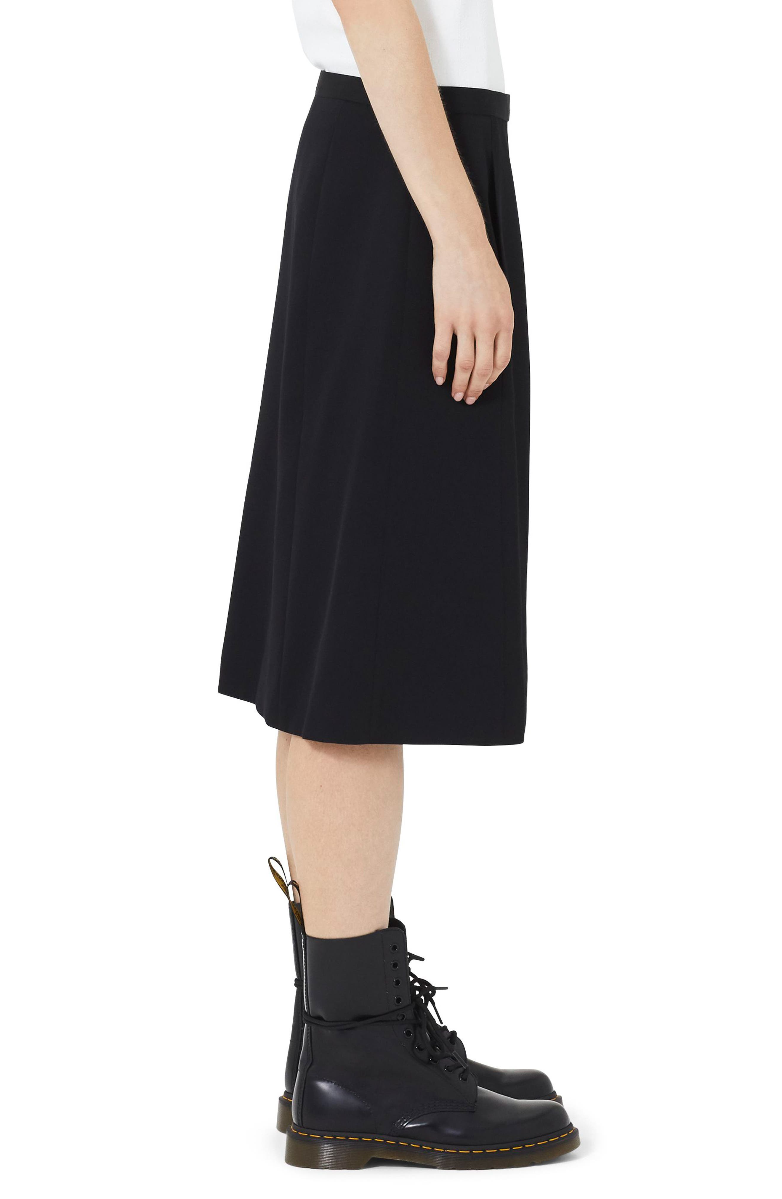 MARC JACOBS,                             Wool A-Line Skirt,                             Alternate thumbnail 3, color,                             BLACK