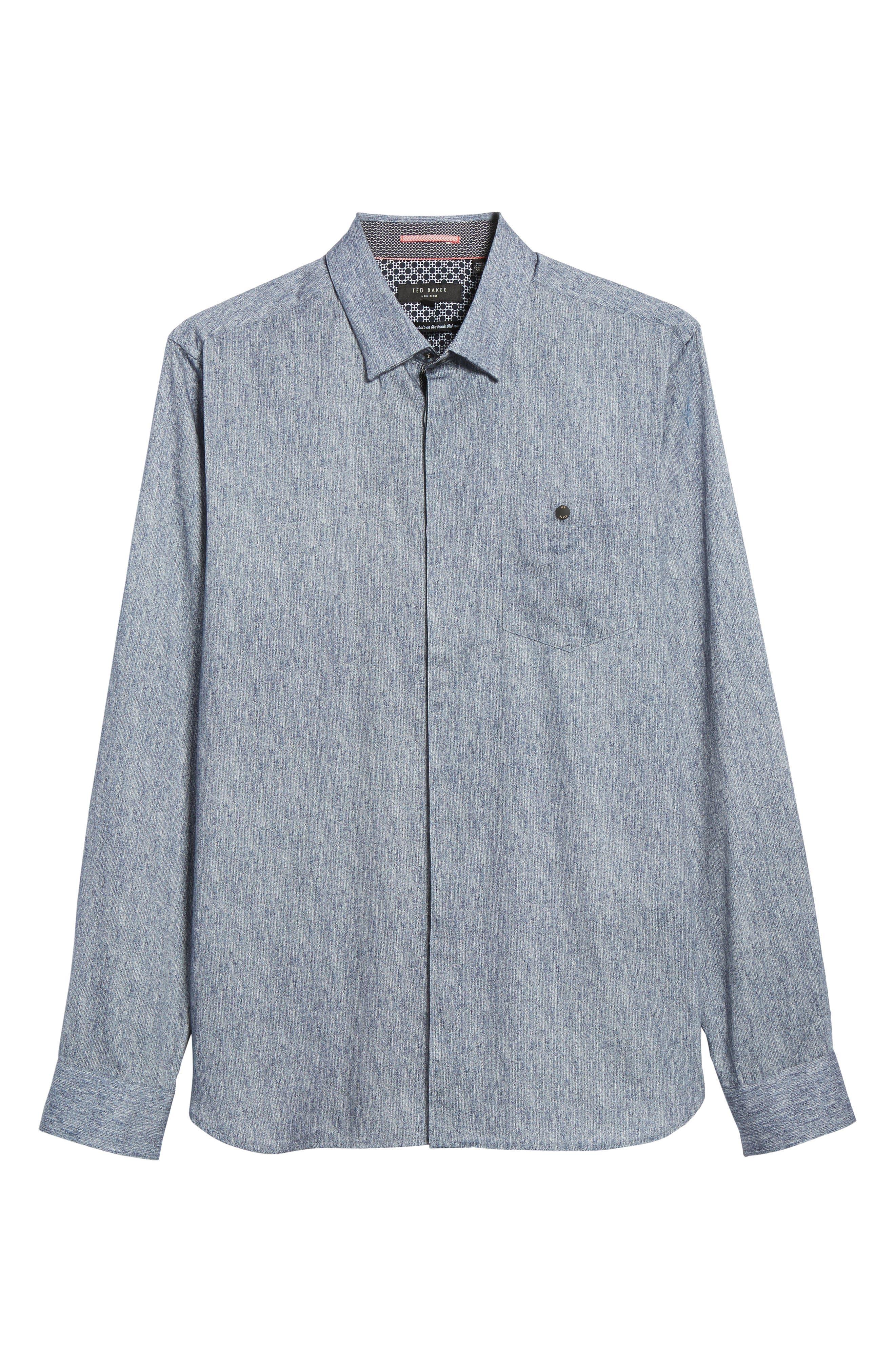 Lili Slim Fit Herringbone Sport Shirt,                             Alternate thumbnail 6, color,                             421