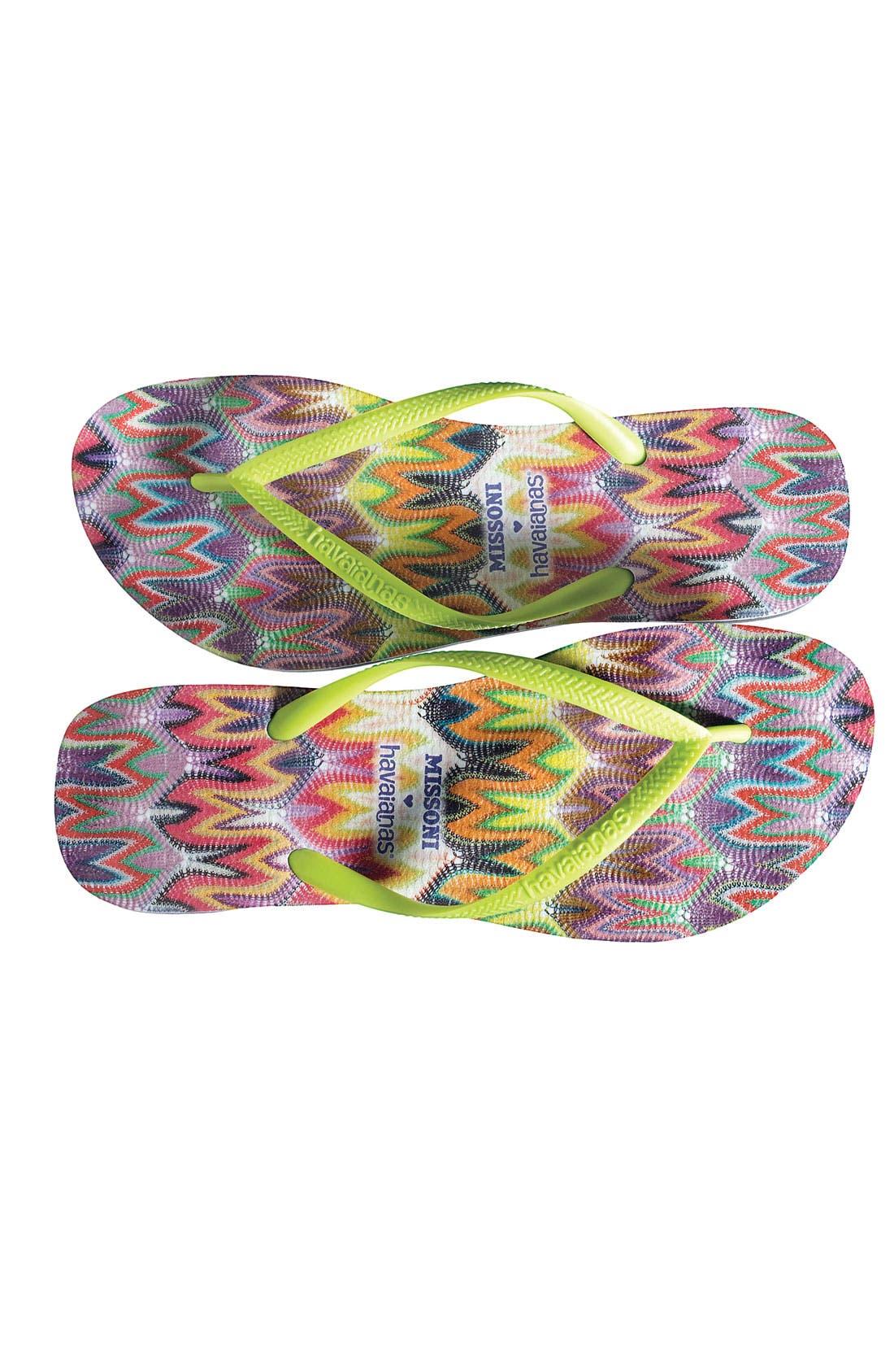 Missoni Loves Havaianas 'Slim - Rachel' Flip Flop,                             Alternate thumbnail 5, color,                             300
