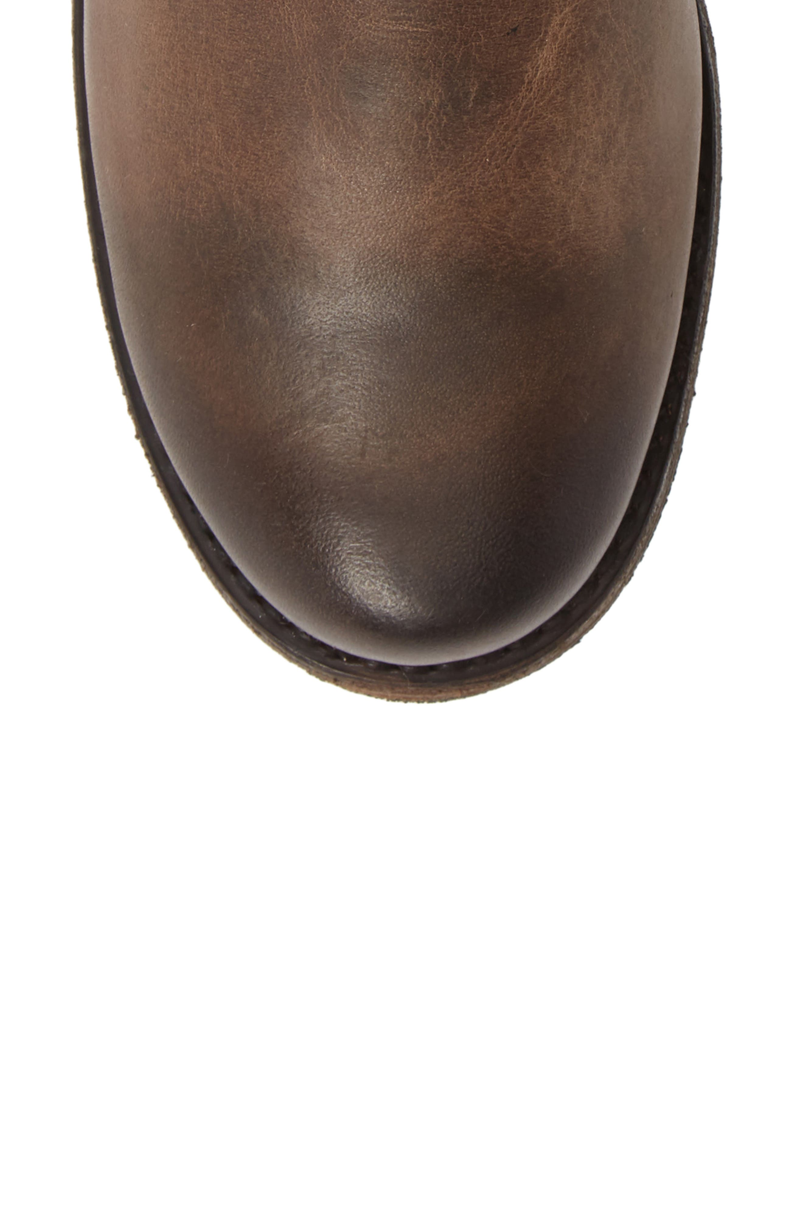 'Veronica' Short Boot,                             Alternate thumbnail 5, color,                             BROWN LEATHER