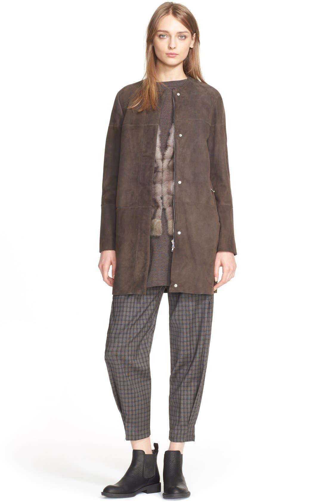 Genuine Mink Fur Vest with Cable Knit Back,                             Alternate thumbnail 5, color,                             078