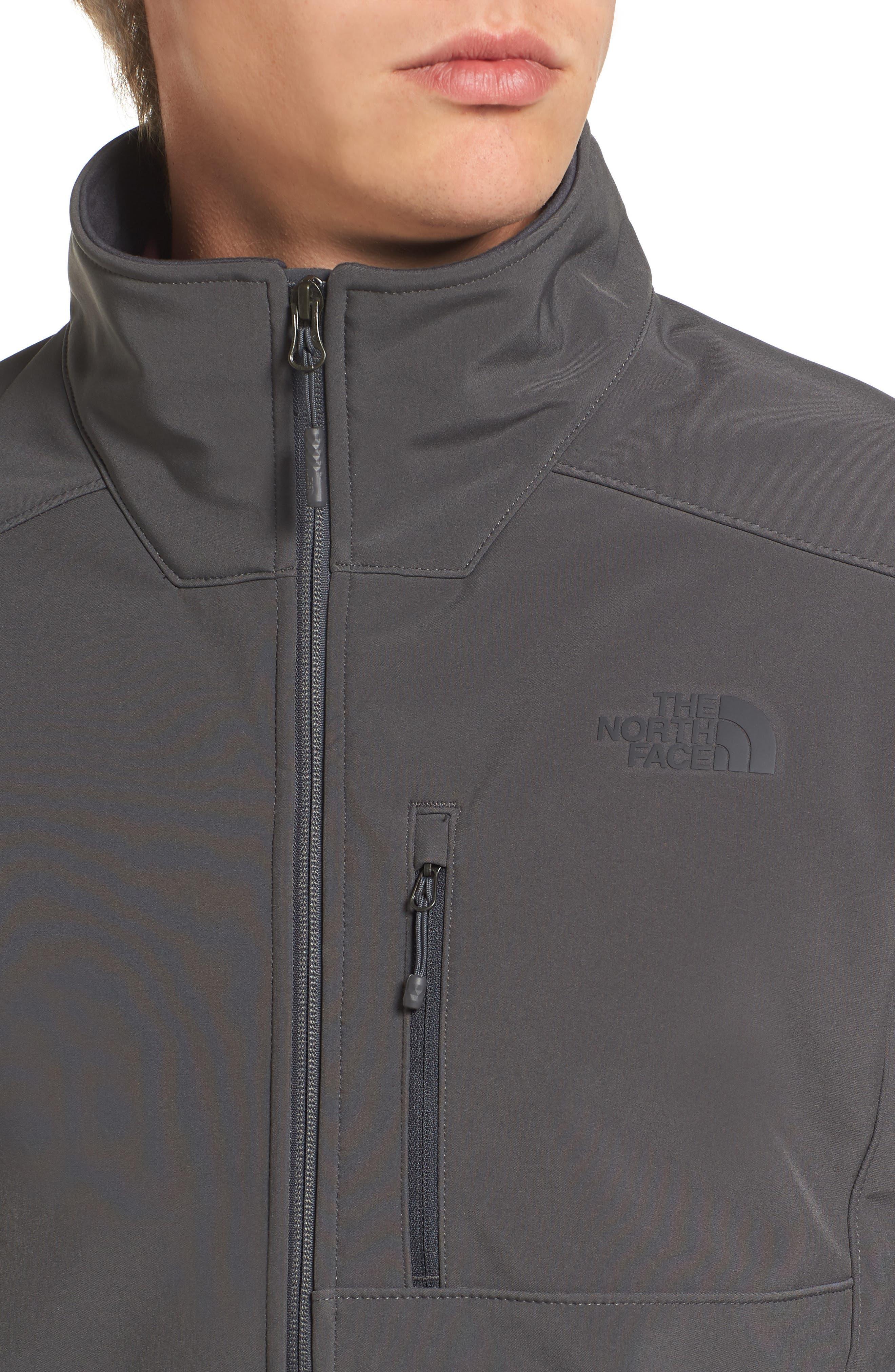 'Apex Bionic 2' Windproof & Water Resistant Soft Shell Jacket,                             Alternate thumbnail 4, color,                             ASPHALT GREY/ASPHALT GREY