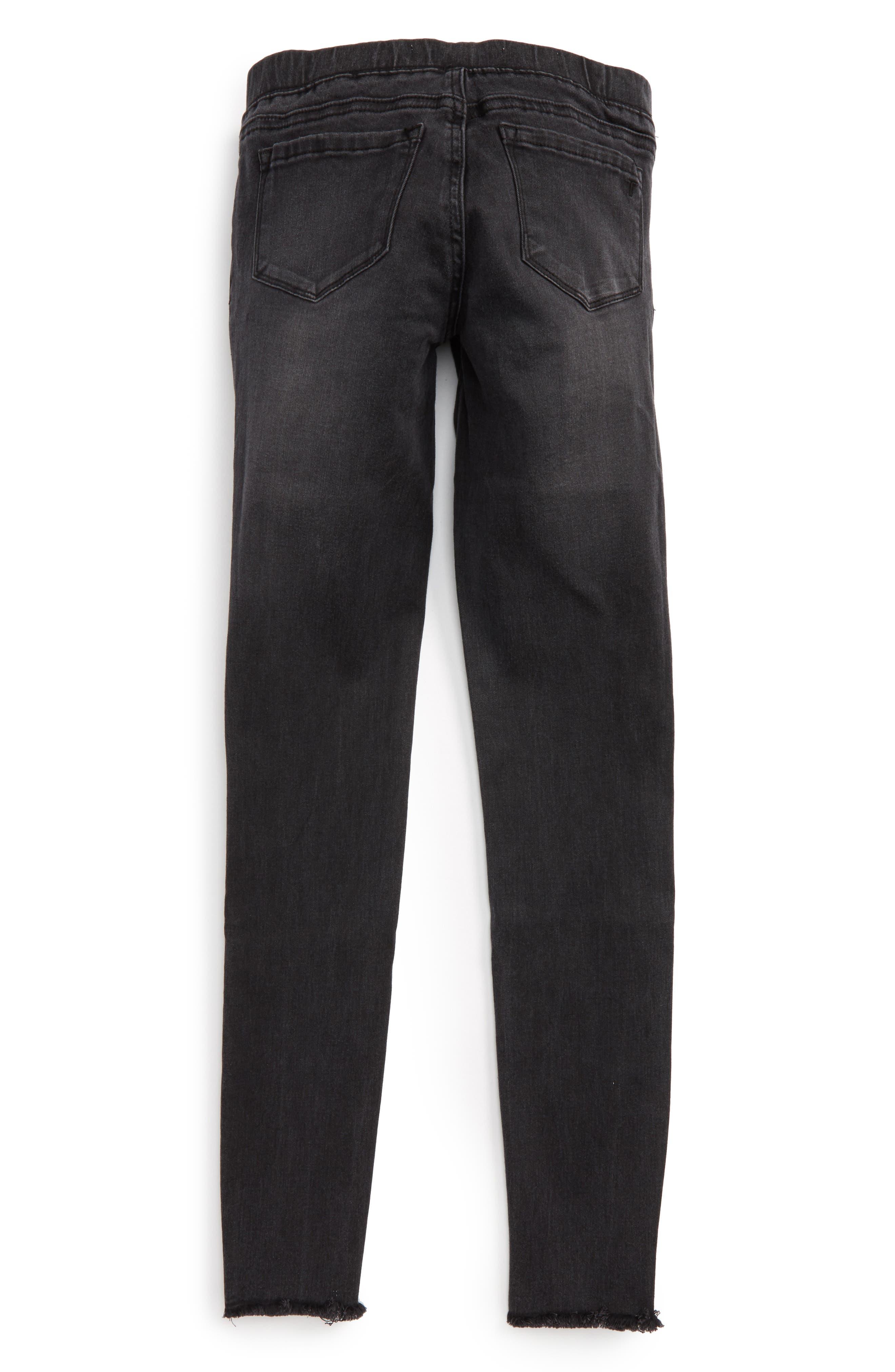 Frayed Denim Pants,                             Alternate thumbnail 2, color,                             001
