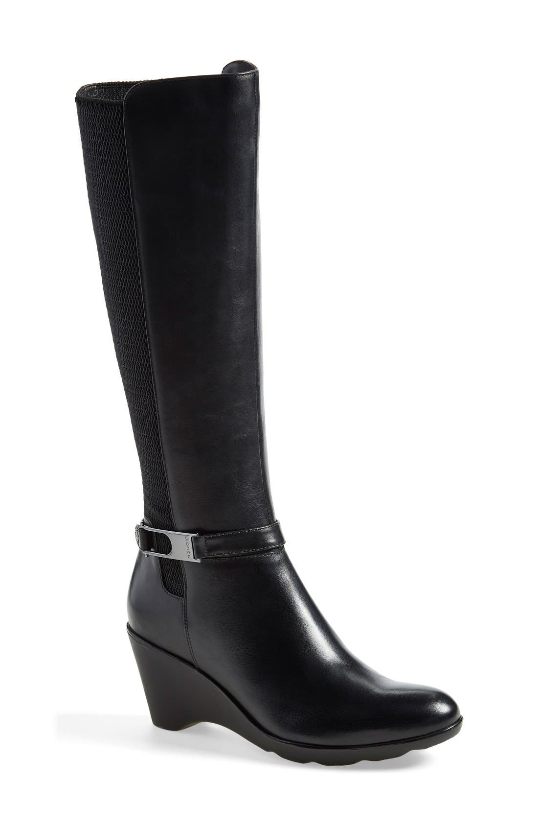 'Laina' Waterproof Boot,                         Main,                         color, 001