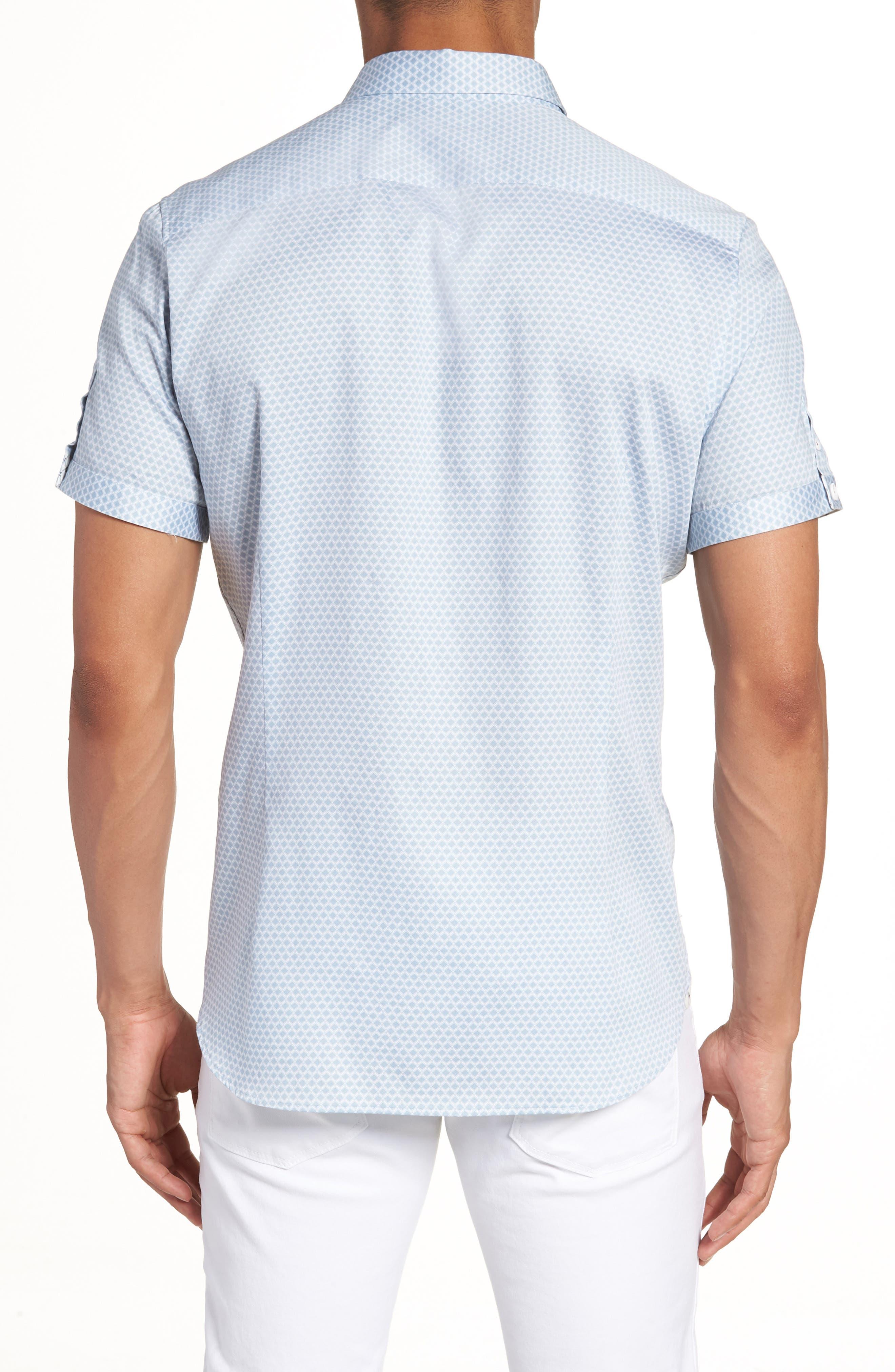 Gudvu Geo Print Sport Shirt,                             Alternate thumbnail 2, color,                             020