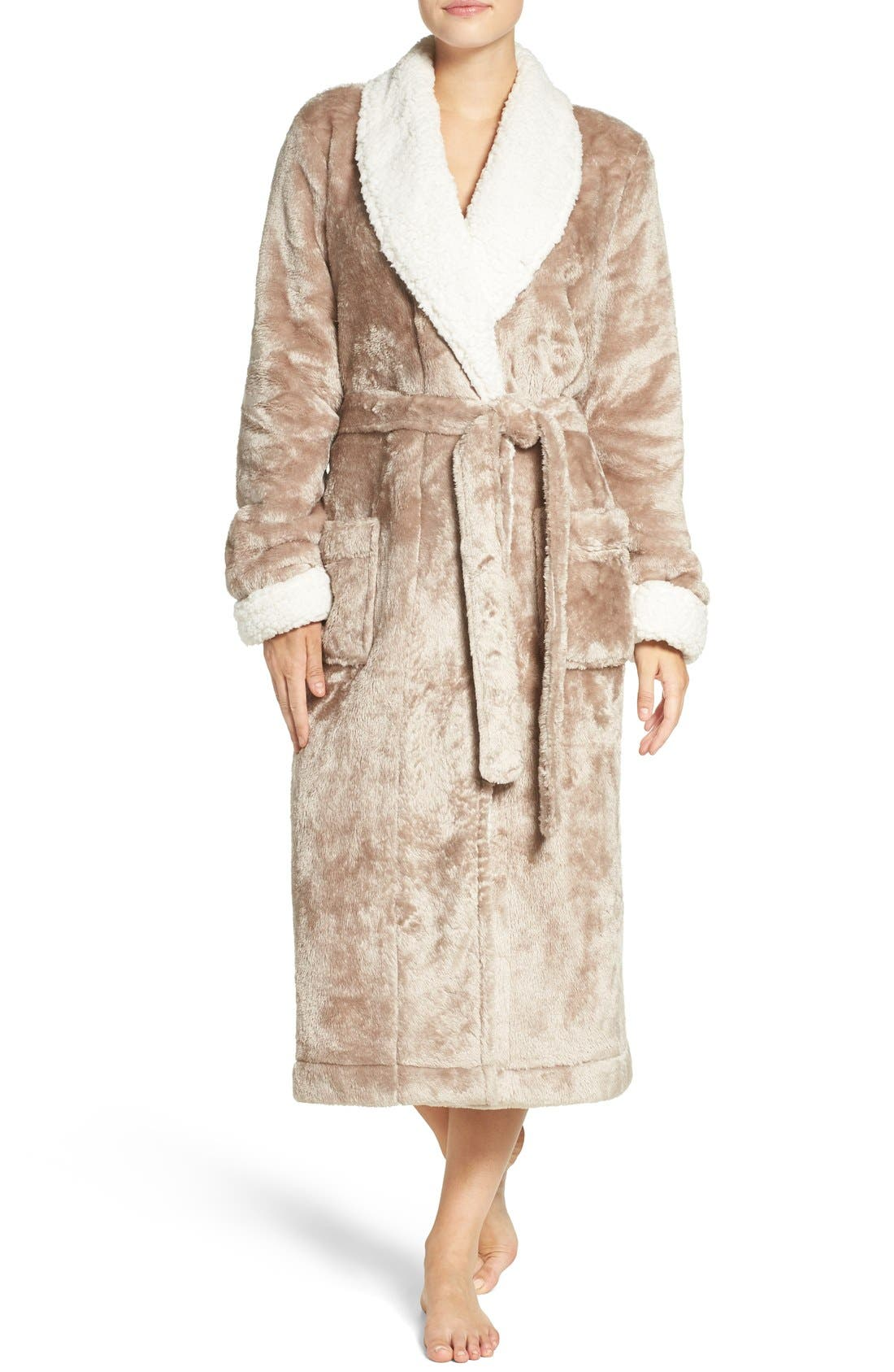 Frosted Plush Robe,                             Main thumbnail 5, color,