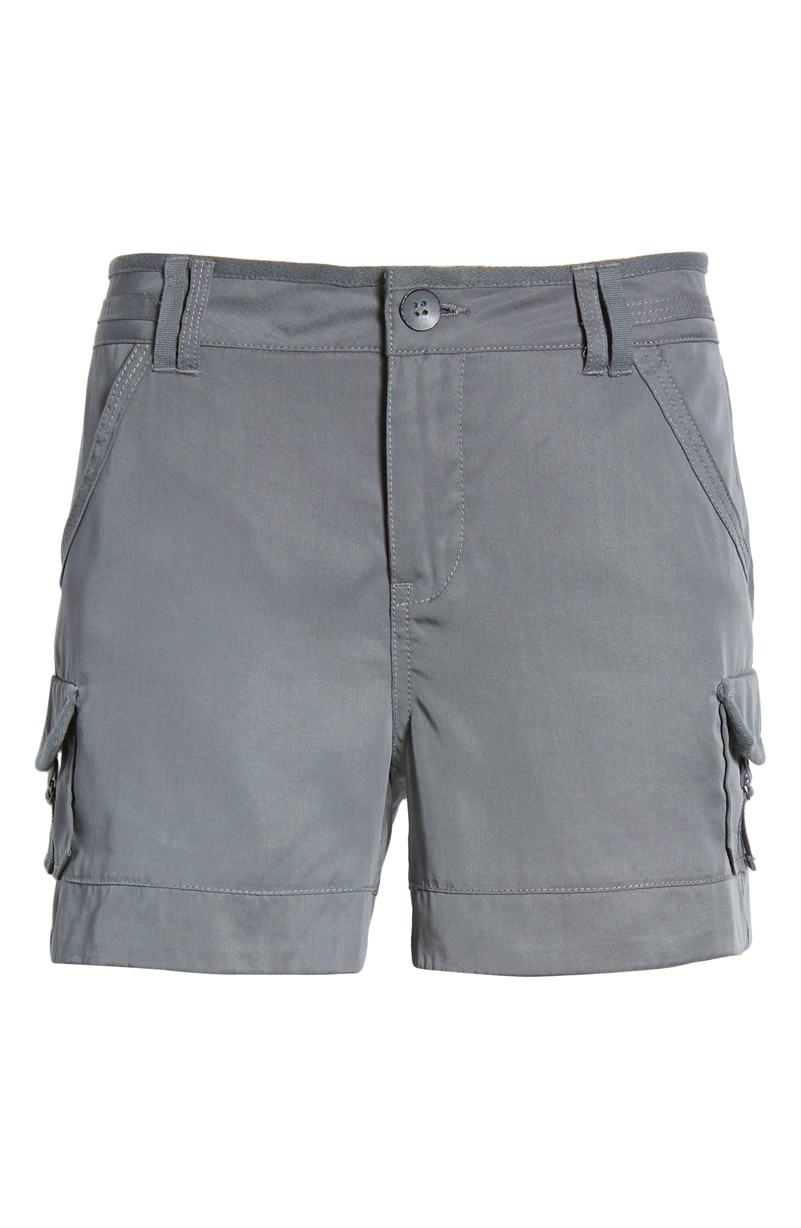 High Rise Tencel Shorts,                             Alternate thumbnail 22, color,