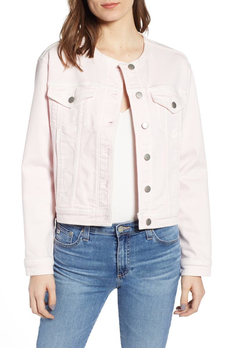 REBECCA MINKOFF Celeste Crop Jacket, Main, color, LIGHT PINK