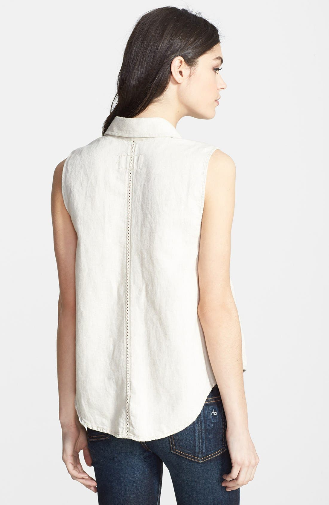 RAG & BONE,                             JEAN 'Tent' Collared Tank,                             Alternate thumbnail 3, color,                             900