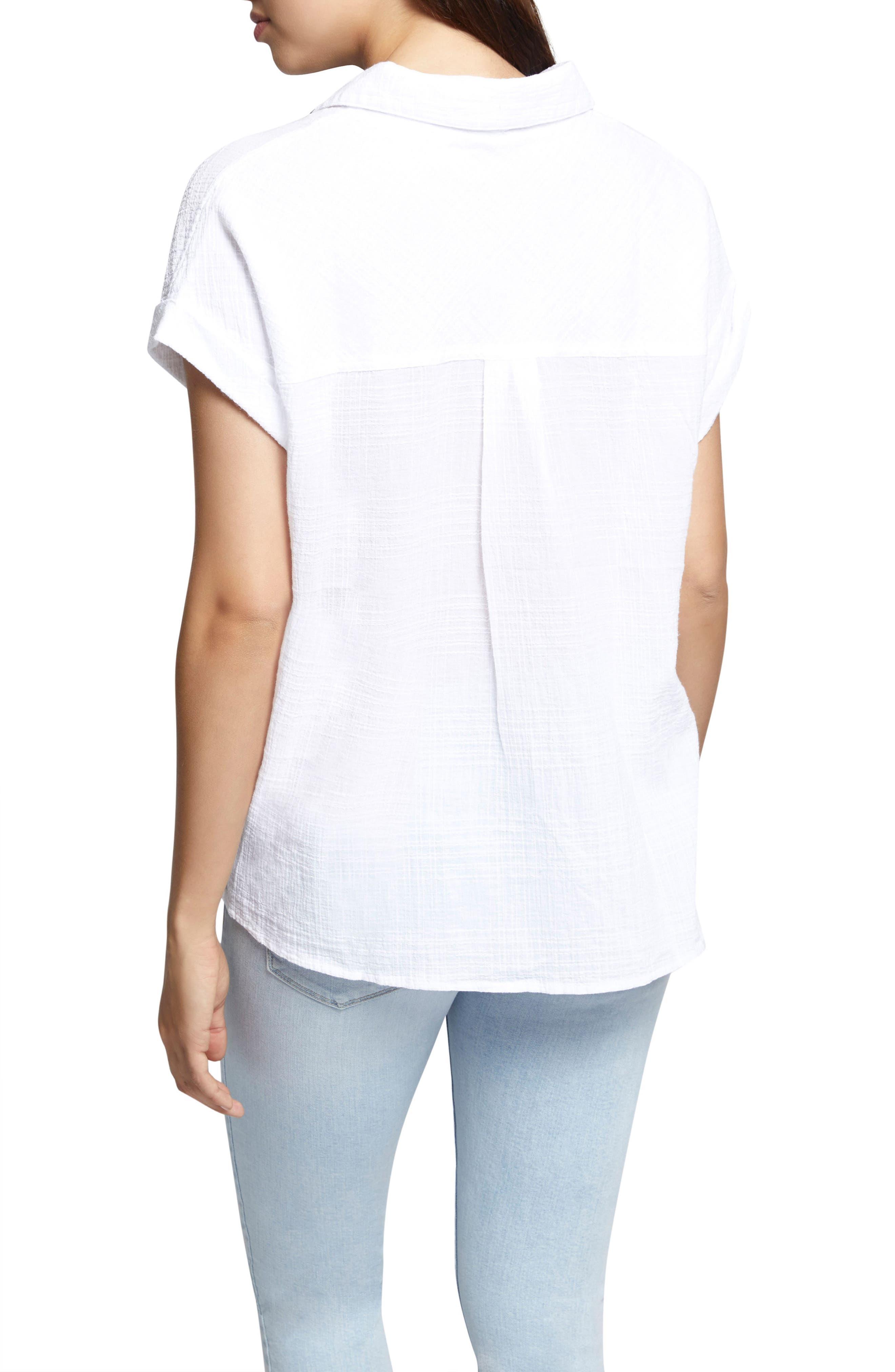 Mod Short Sleeve Boyfriend Shirt,                             Alternate thumbnail 8, color,