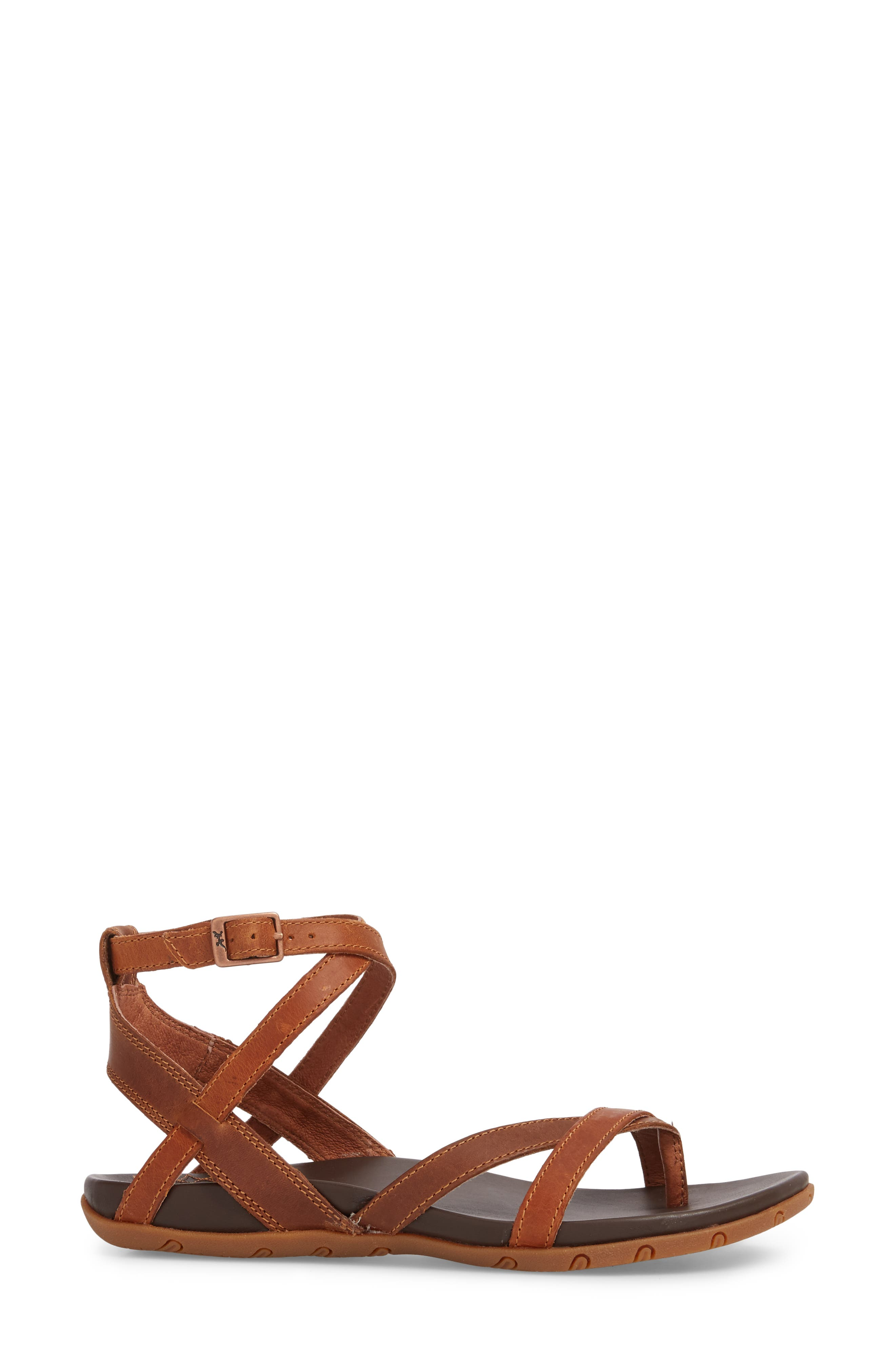 CHACO,                             Juniper Sandal,                             Alternate thumbnail 3, color,                             RUST LEATHER