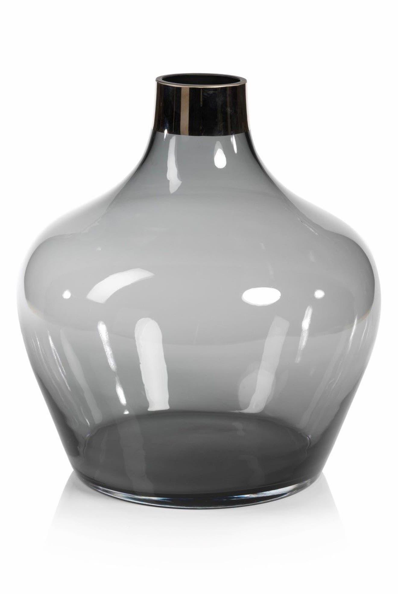 Capo Glass Vase,                             Main thumbnail 1, color,                             100