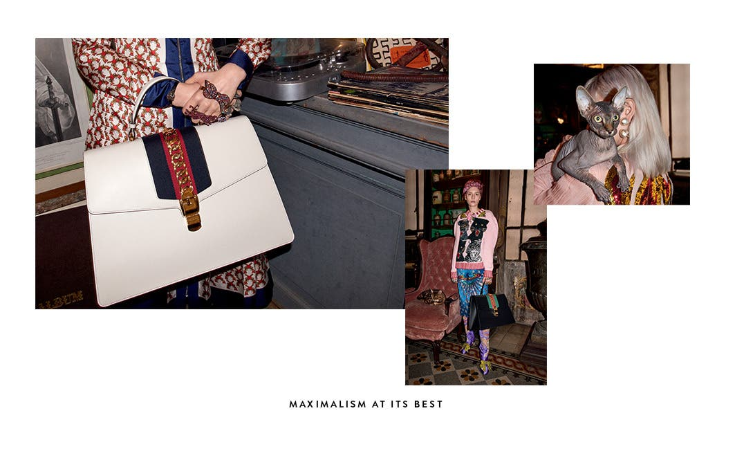 Gucci bags: maximalism at its best.