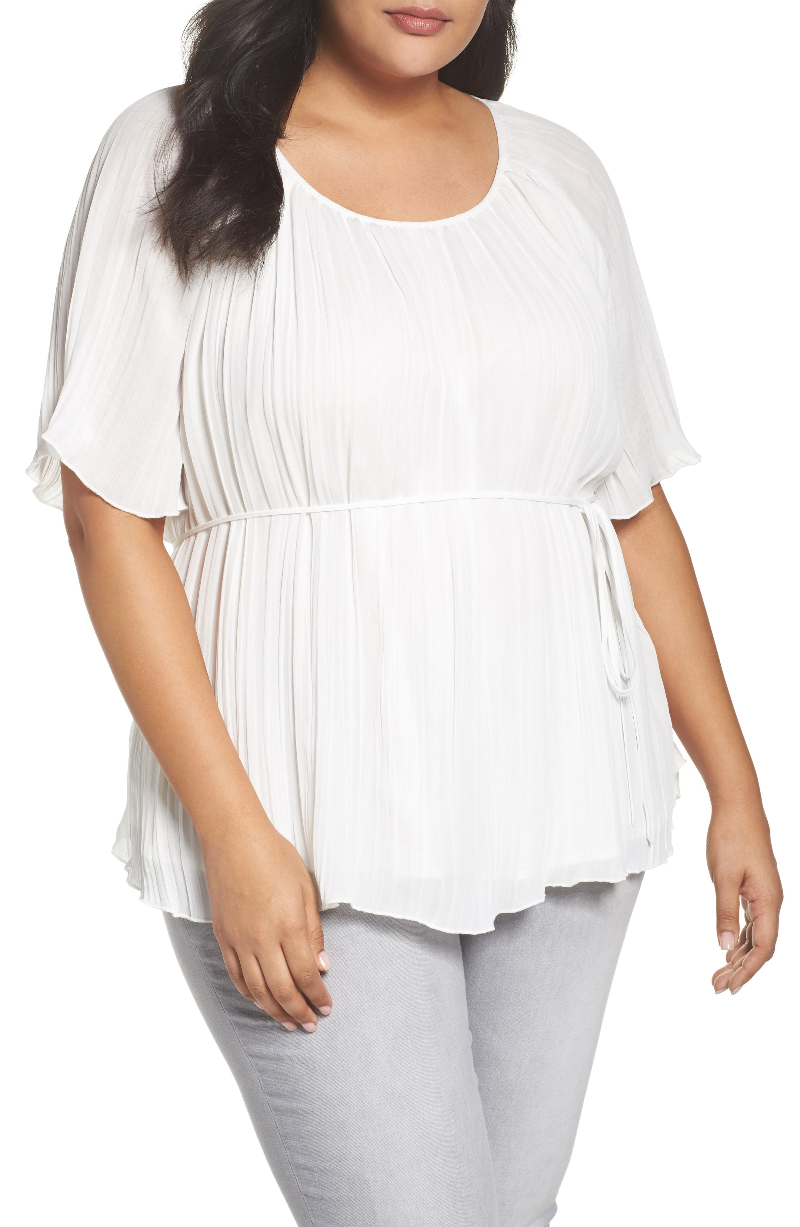 Crinkle Scoop Neck Top,                             Main thumbnail 3, color,