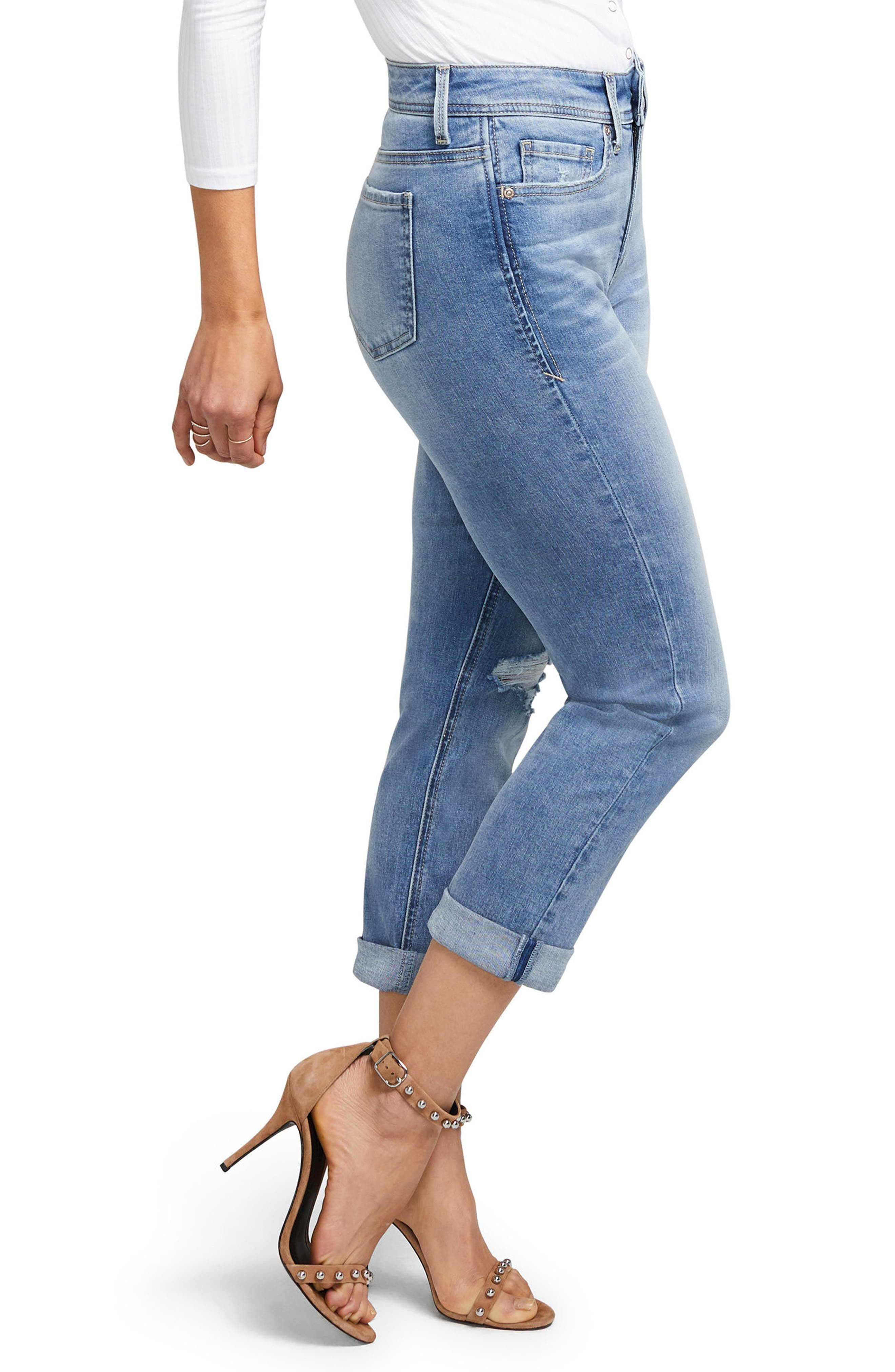 Slim Straight Crop Jeans,                             Alternate thumbnail 3, color,                             416