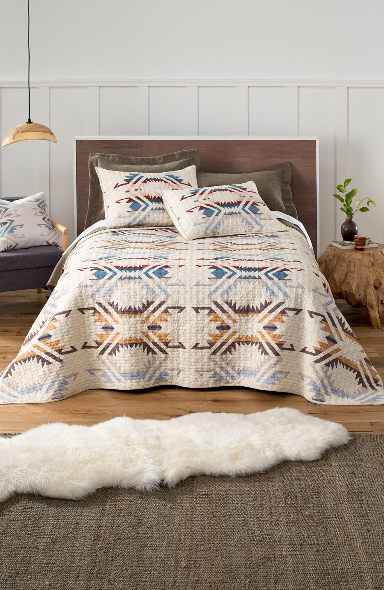 White Sands Quilt & Sham Set,                             Main thumbnail 1, color,                             SAND SHELL